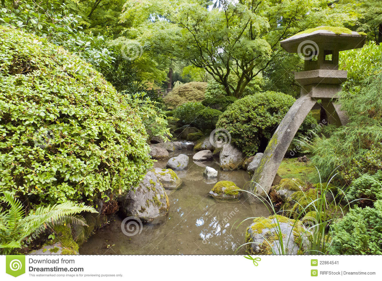 Portland japanese garden stock image image 22864541 for Portland japanese garden free day
