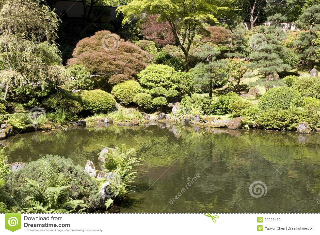Portland Japanese Garden Royalty Free Stock Images Image 32093439