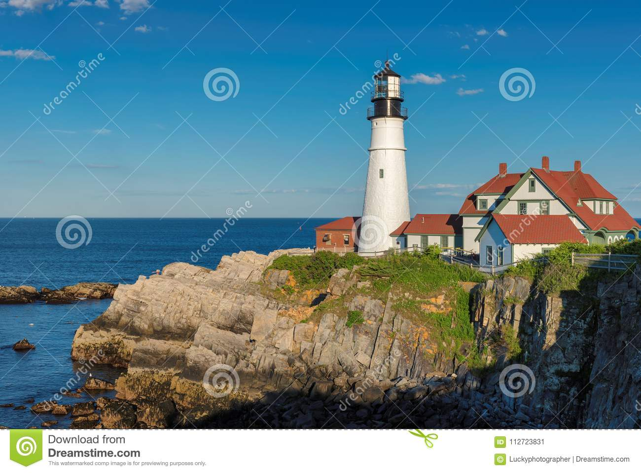 Portland Lighthouse in New England, Maine