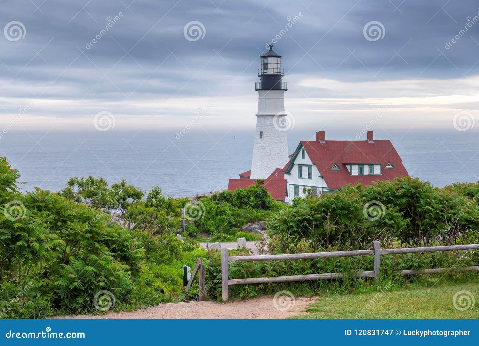 Portland Lighthouse, Maine, USA.
