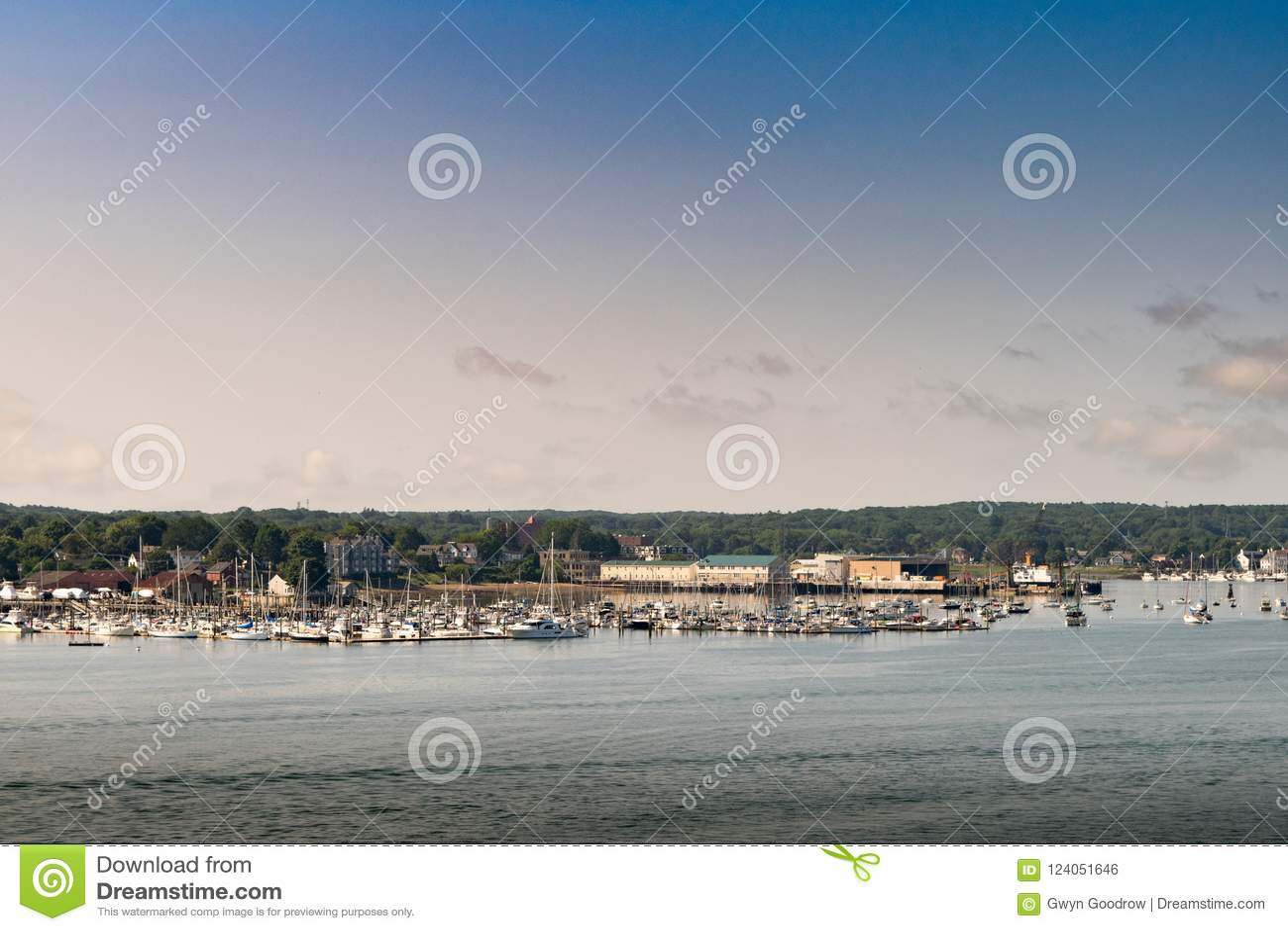 Portland Mane Marina en toneelmening