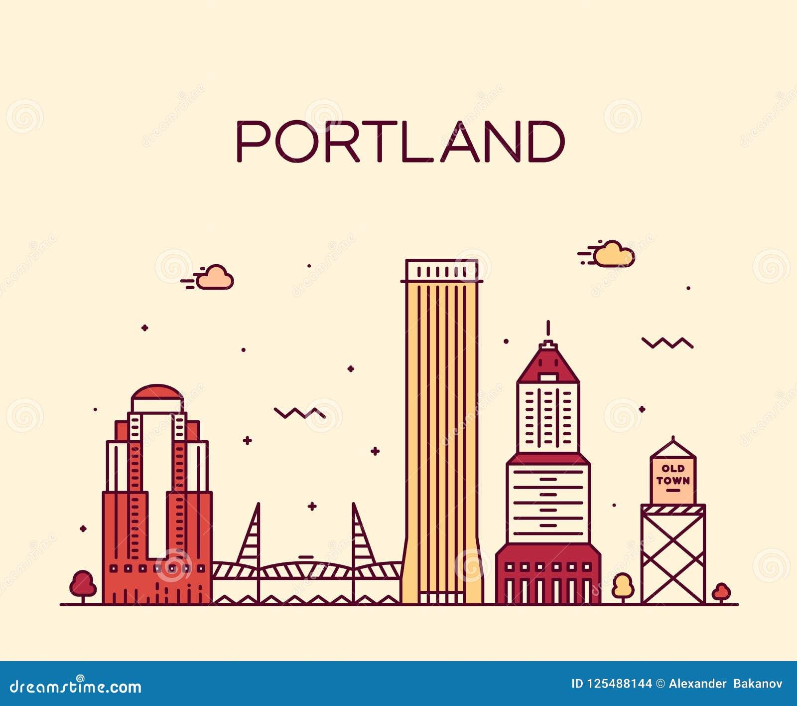 Portland Orégon Etats-Unis dirigent la ville linéaire de style d art