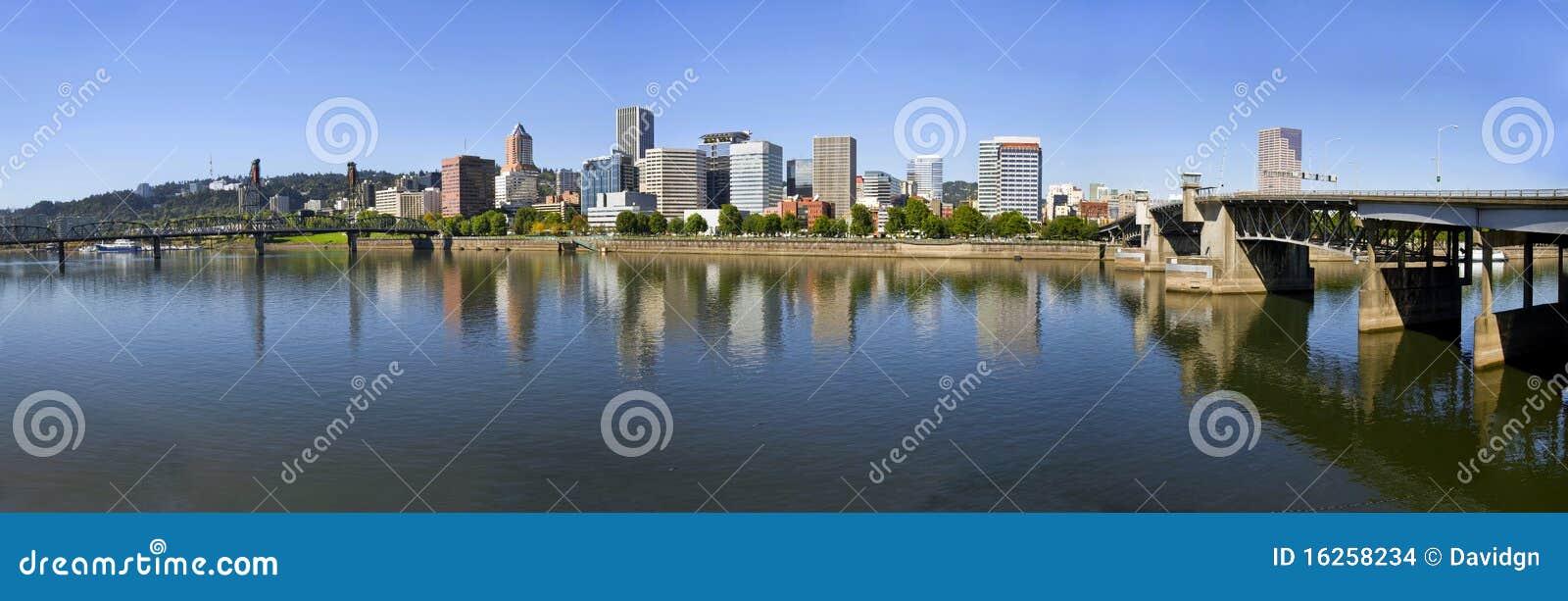 Portland Oregon Downtown Skyline Panorama 3