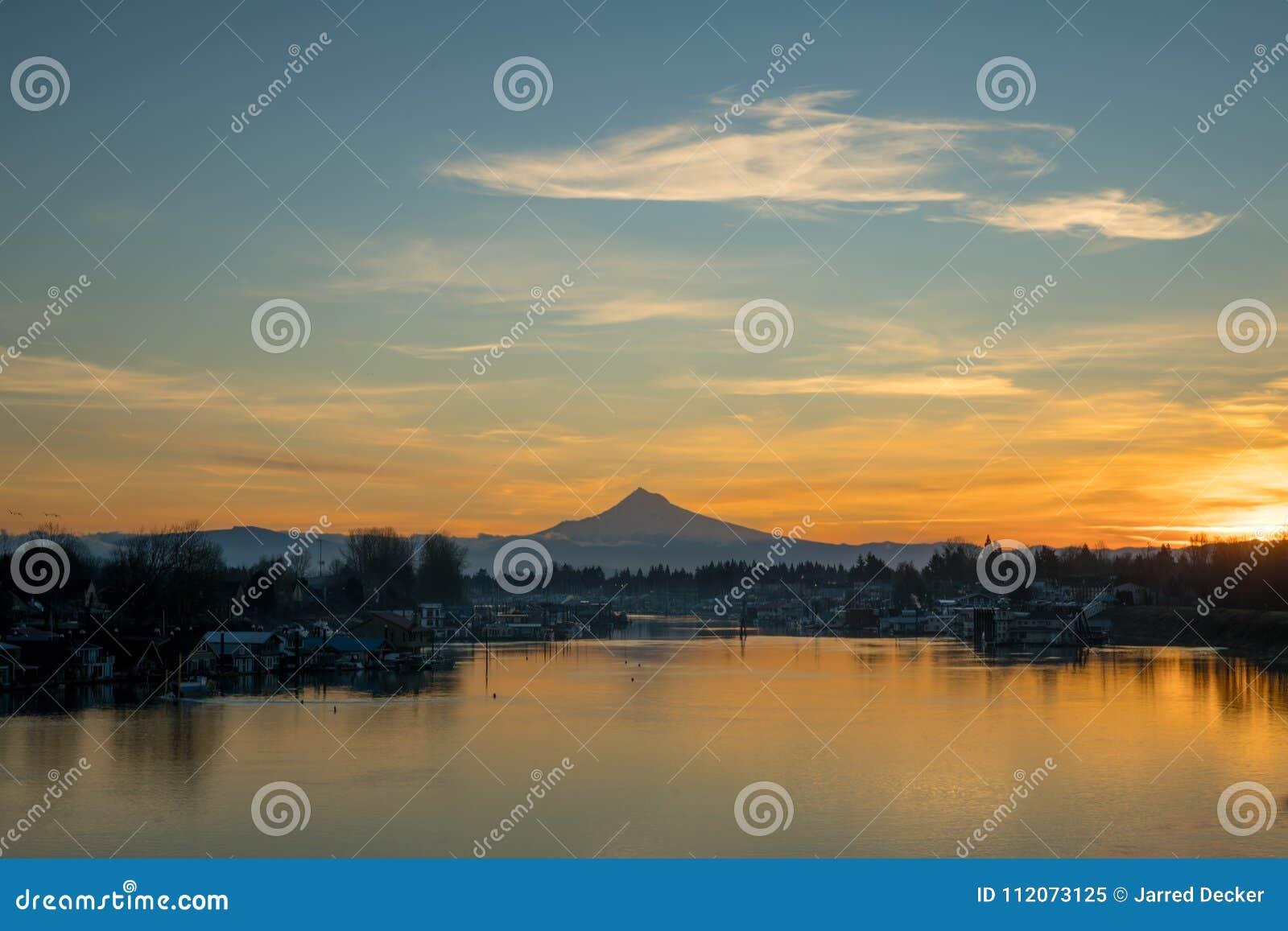 Portland Oregon Mt Hood Columbia River Sunrise