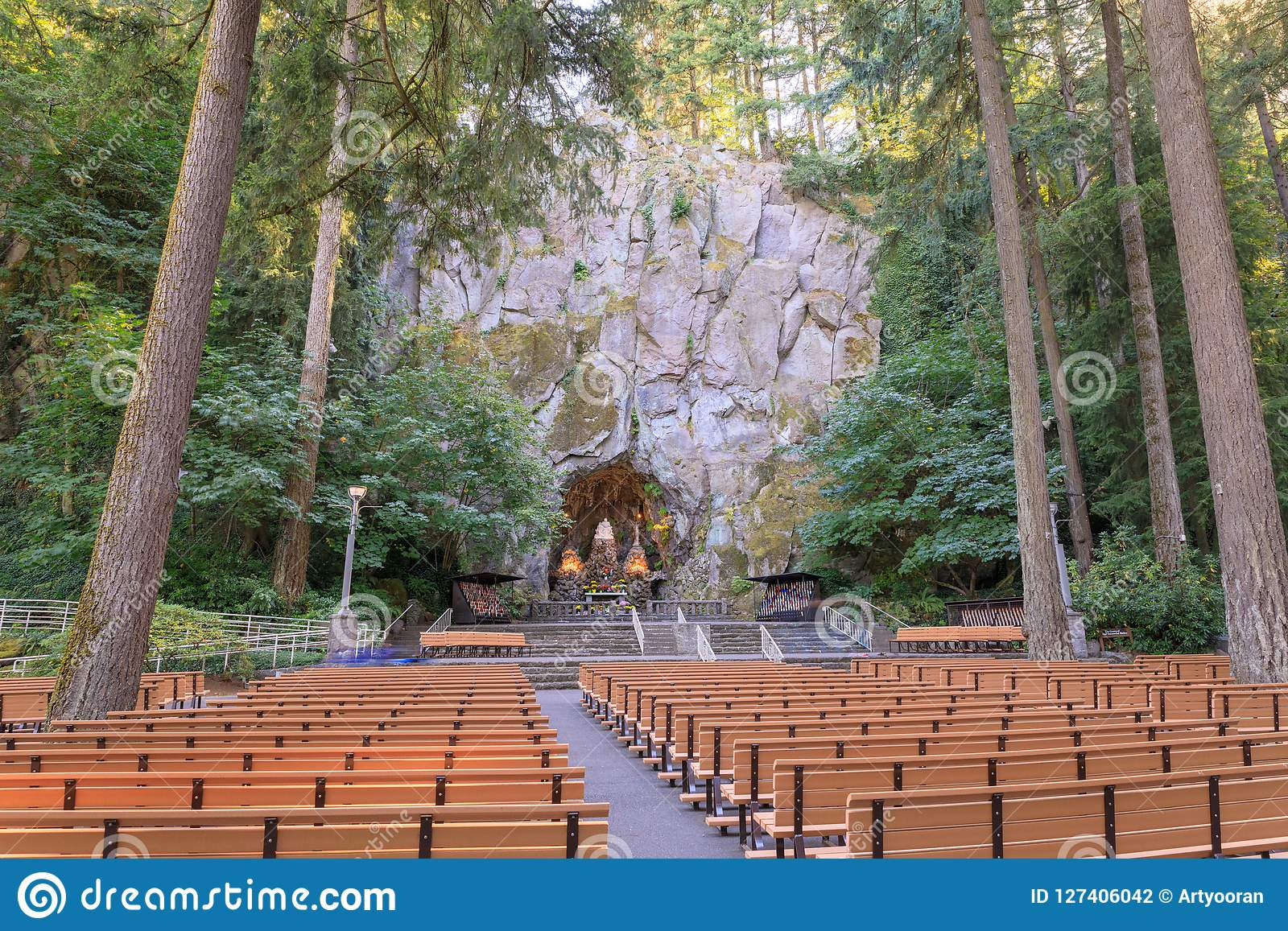 The Grotto, is a Catholic outdoor shrine and sanctuary located in the Madison South district of Portland, Oregon, United States