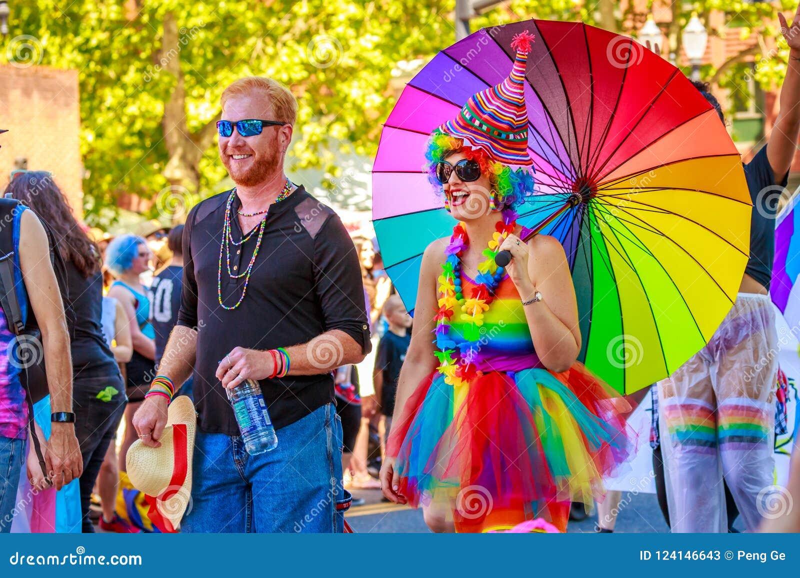 Portland Pride Parade 2018 Editorial Stock Photo Image Of America 124146643