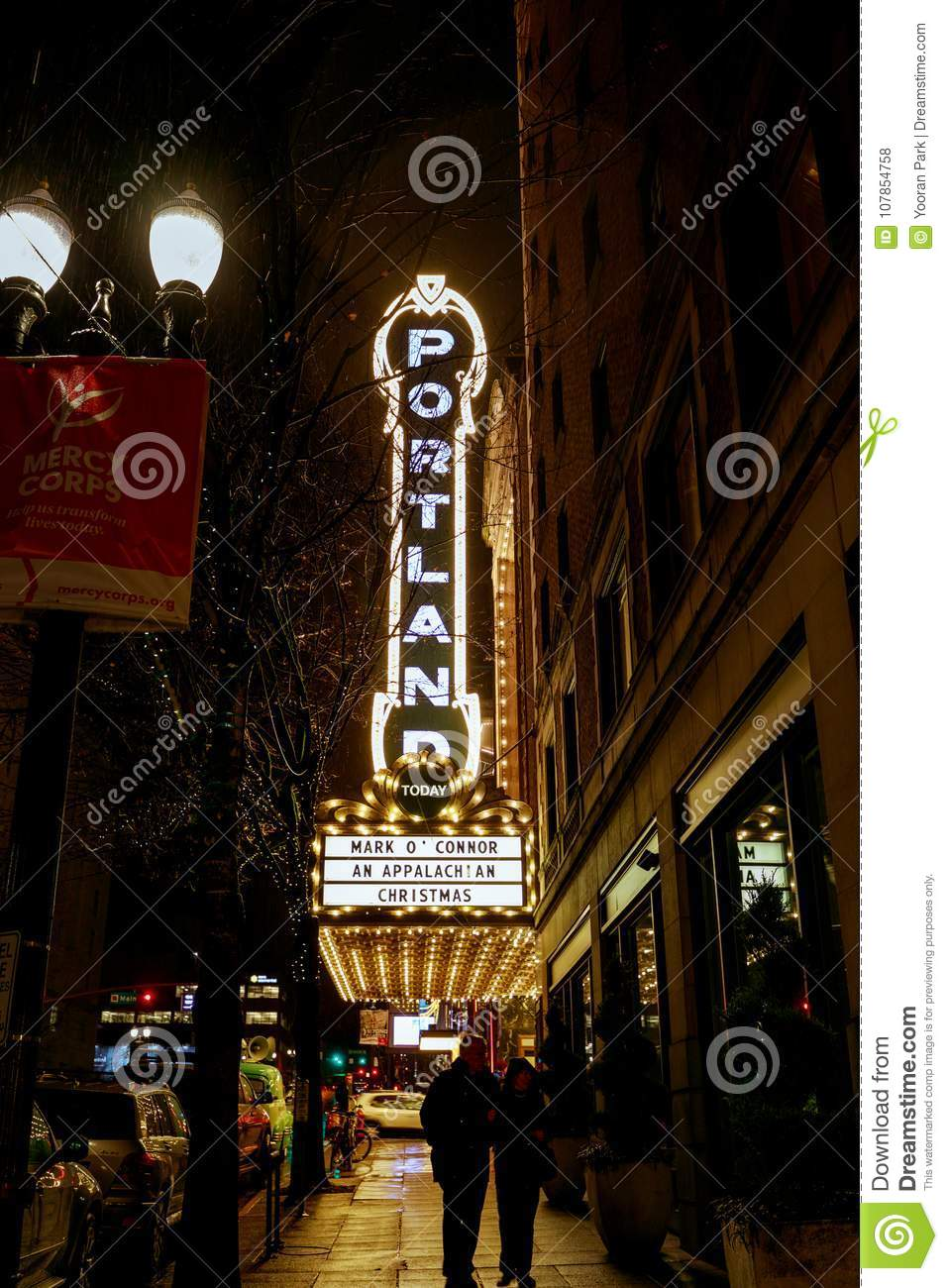 The Portland Sign On The Arlene Schnitzer Concert Hall Editorial - Arlene schnitzer concert