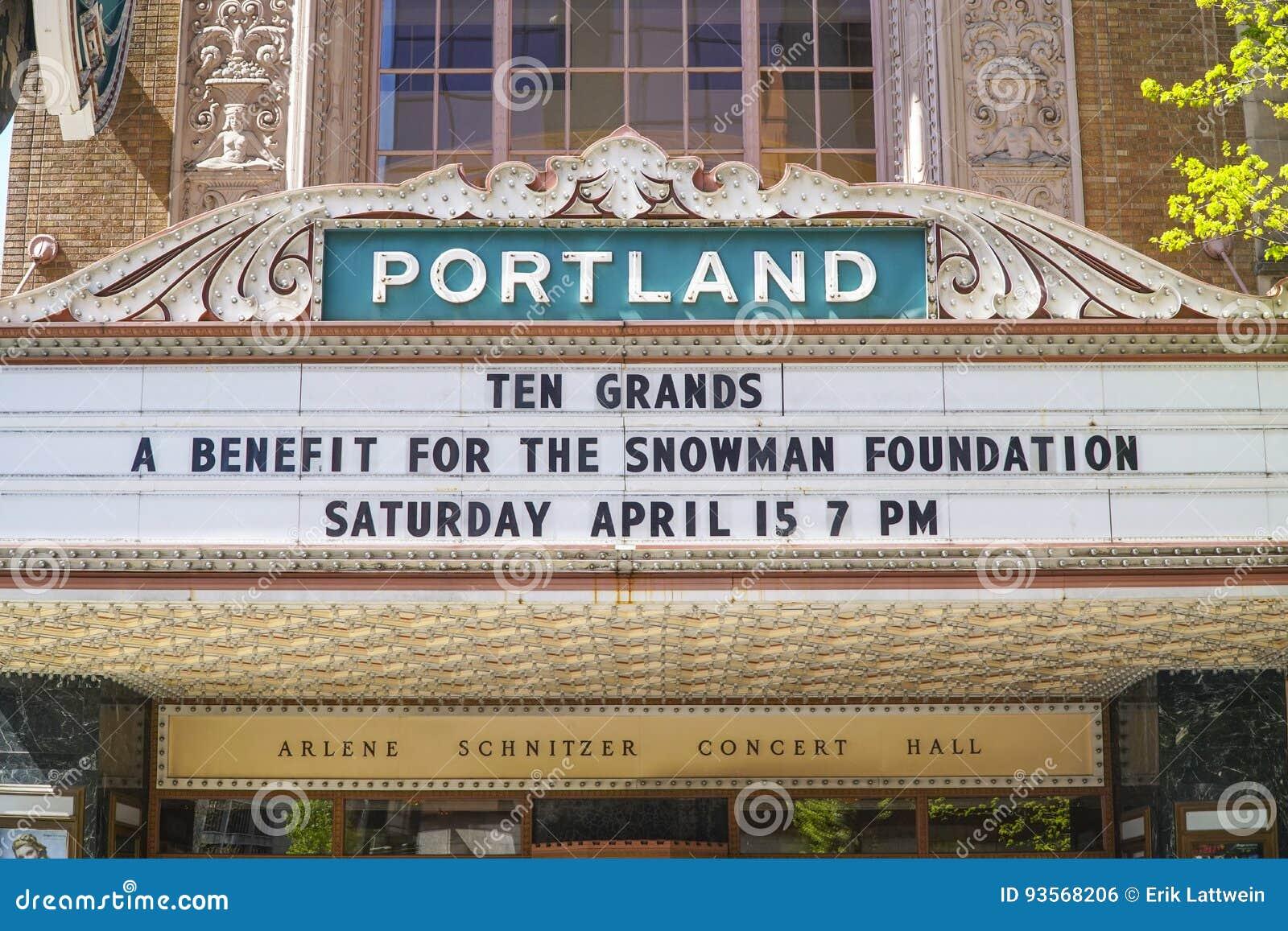 Portland Theater Arlene Schnitzer Concert Hall PORTLAND OREGON - Schnitzer concert hall portland