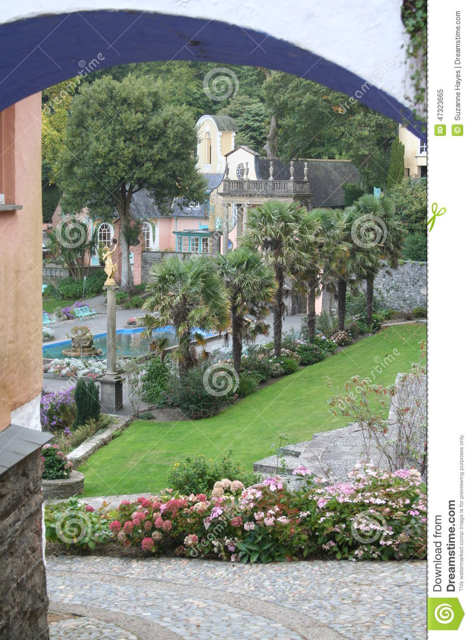 Portmeirion Hotel The Village North Wales Stock Photo Image 47323665