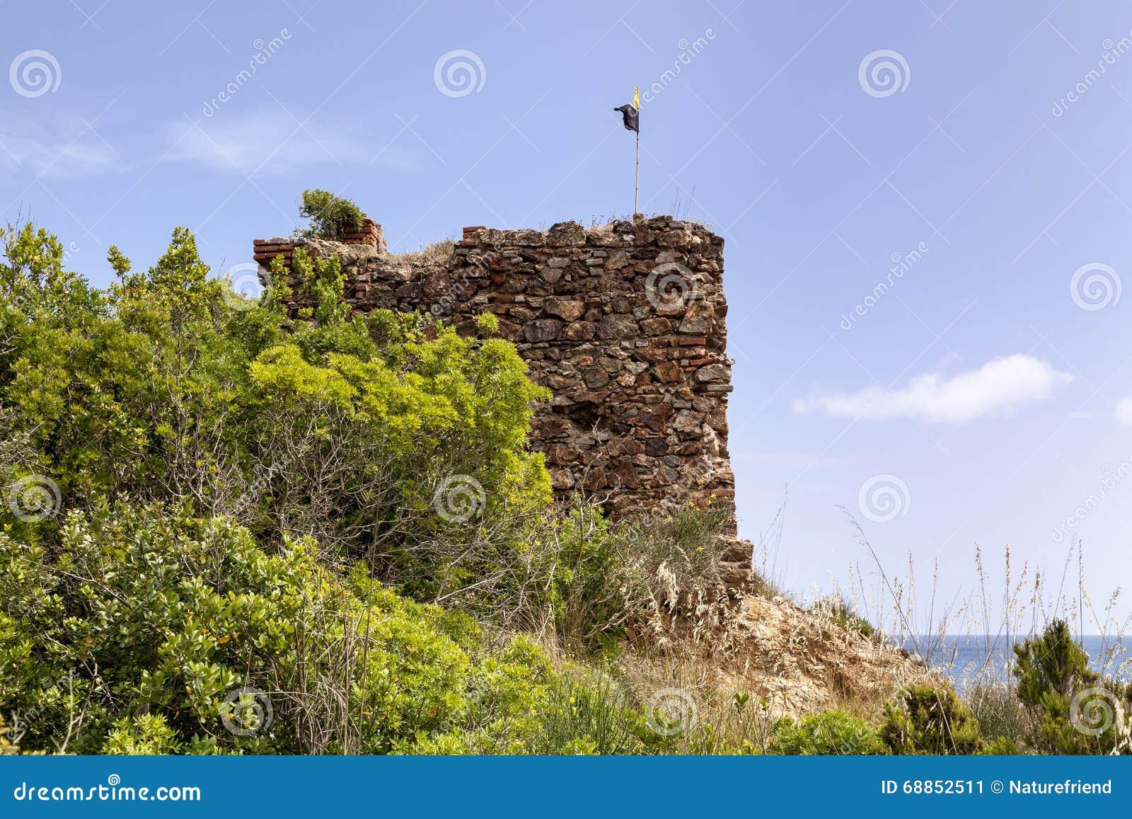 Porto Azzurro Italy  City new picture : ... : Porto Azzurro with Terranera, watchtower ftom Elba, Tuscany, Italy