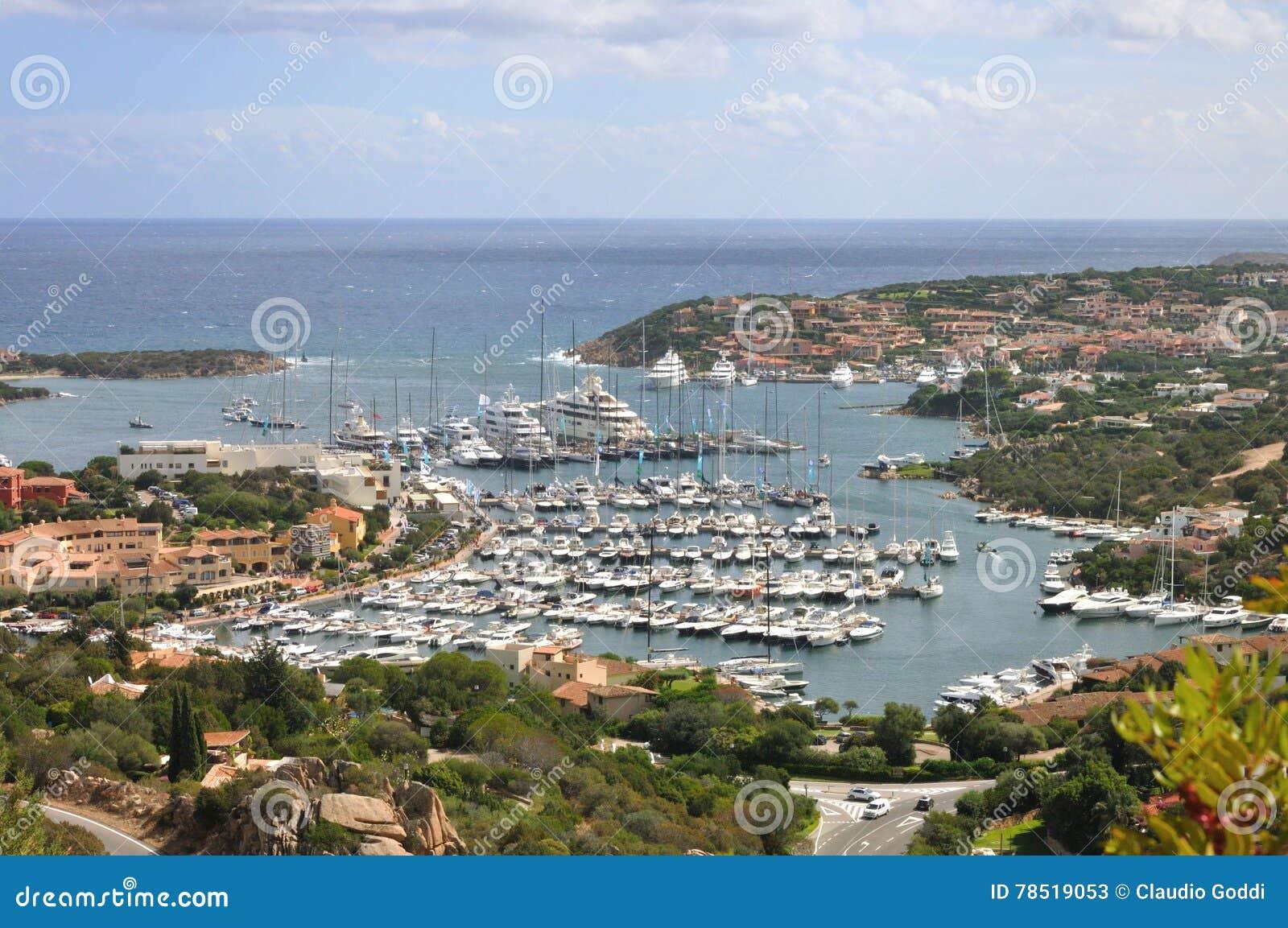 Porto Cervo stock image. Image of harbor, dock, costa ...