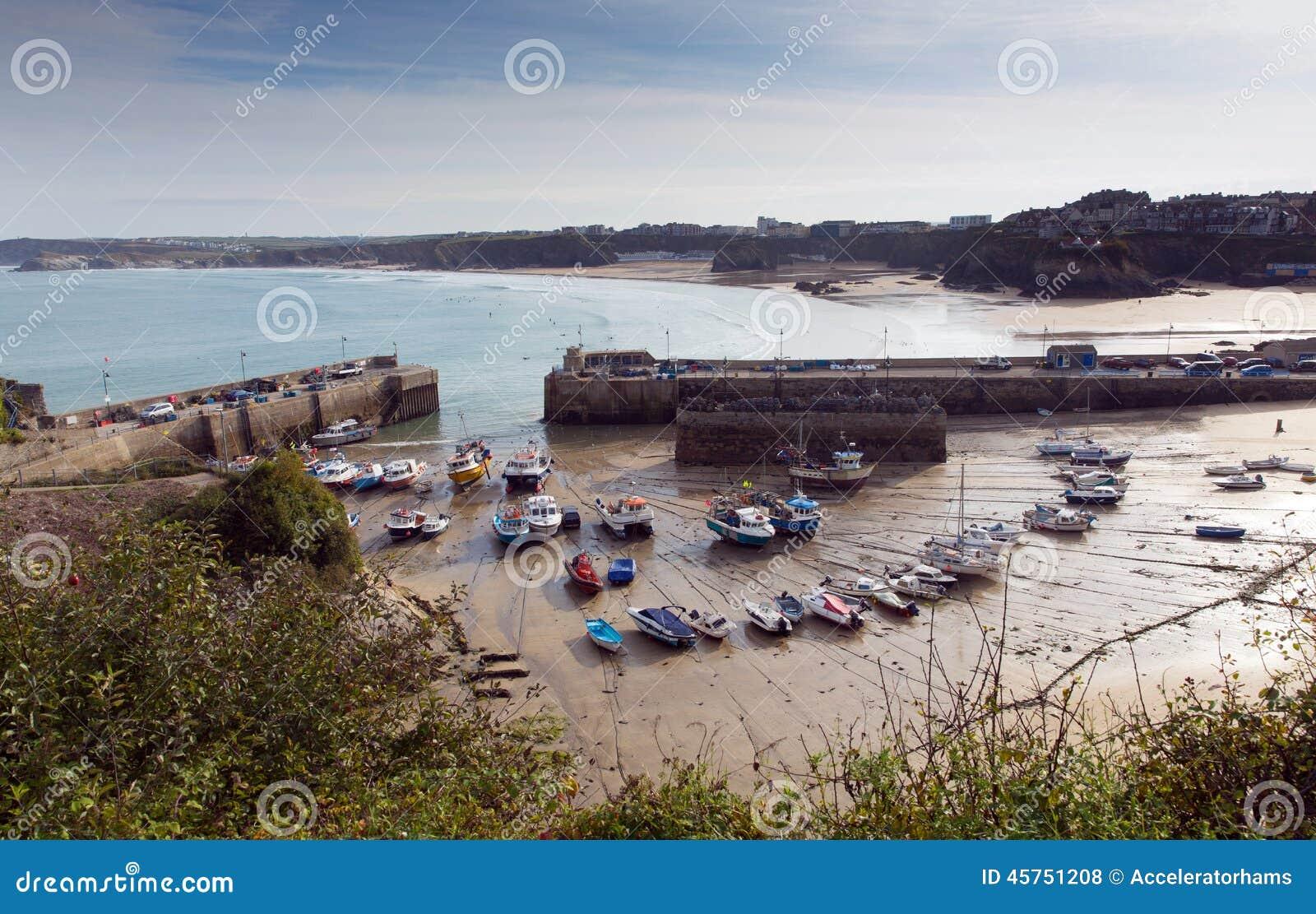 Porto Cornovaglia del nord Inghilterra Regno Unito di Newquay