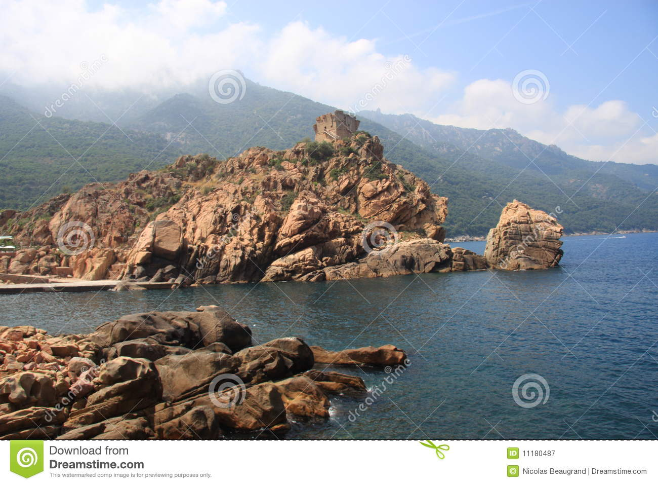 Porto France  city pictures gallery : Porto Corse France Royalty Free Stock Photography Image: 11180487