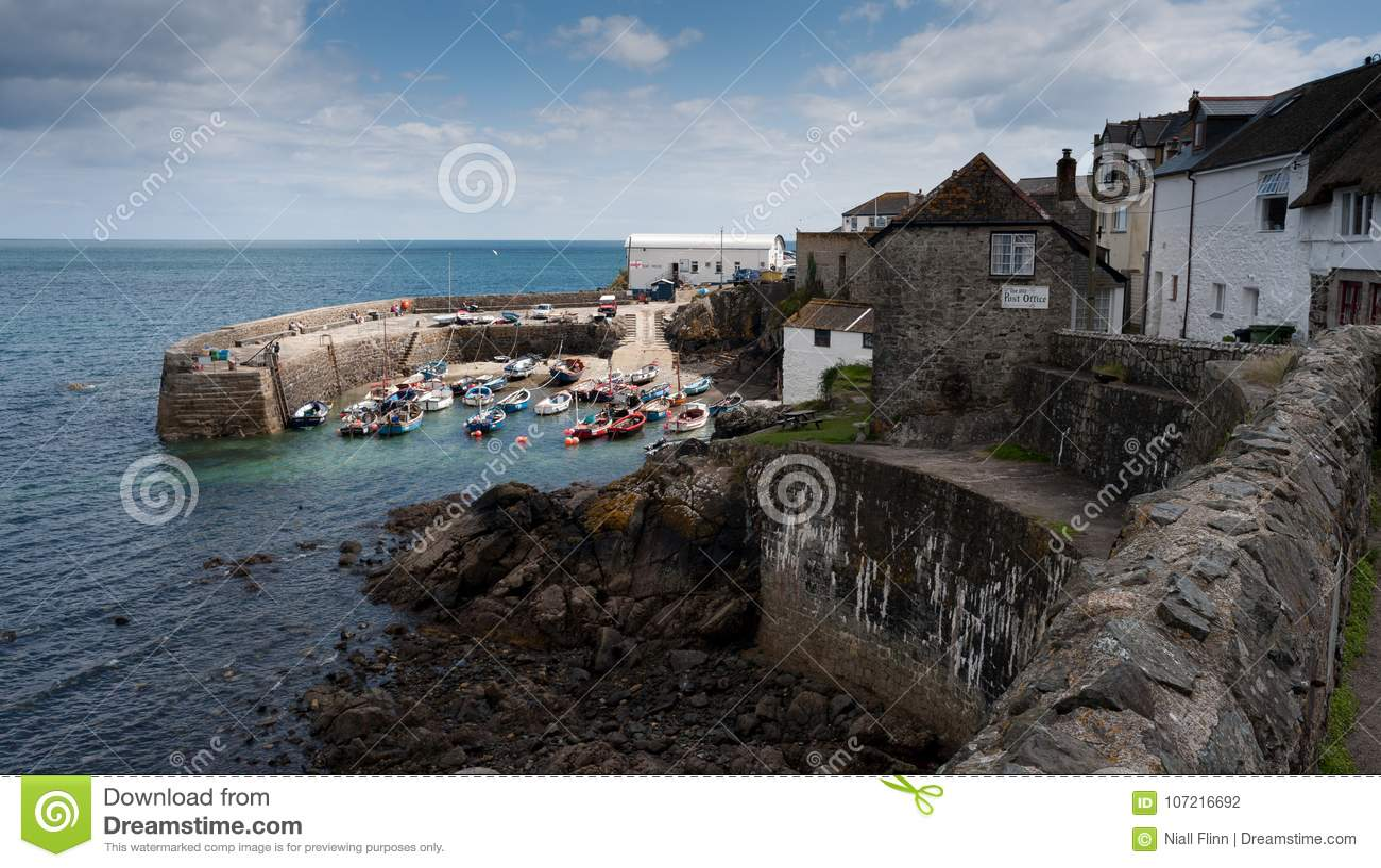 Porto de Coverack, Cornualha, Inglaterra