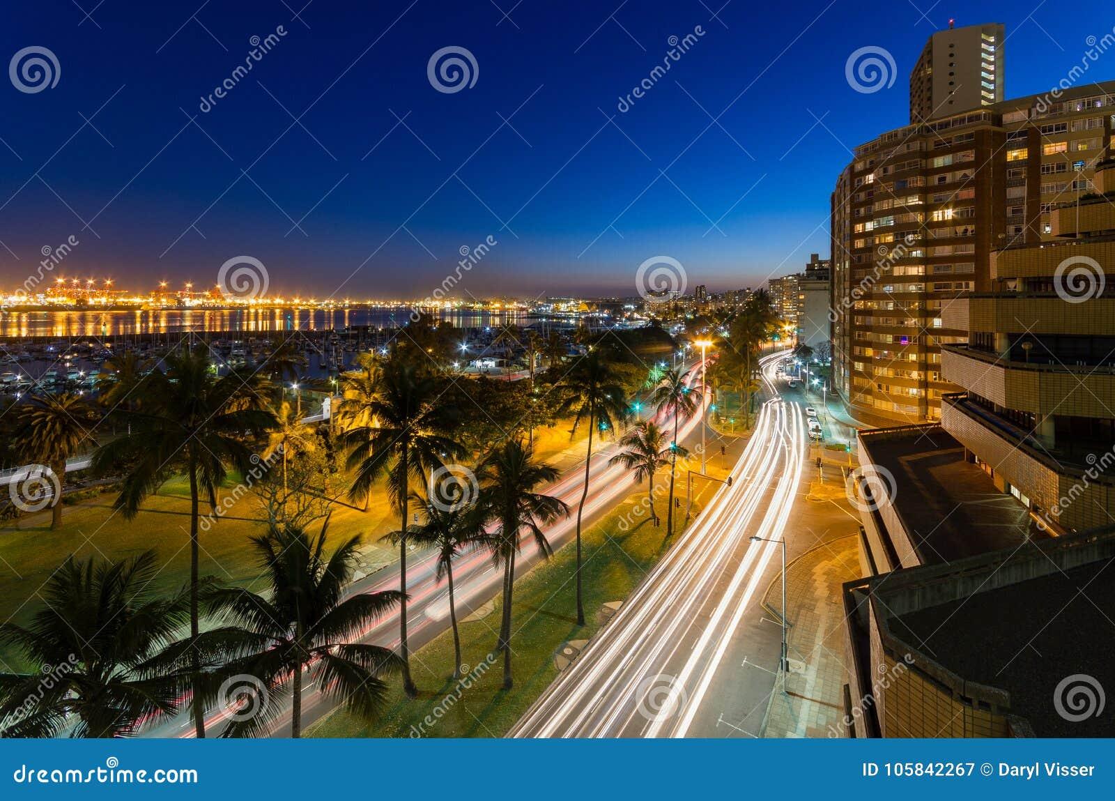 Porto de Durban em África do Sul