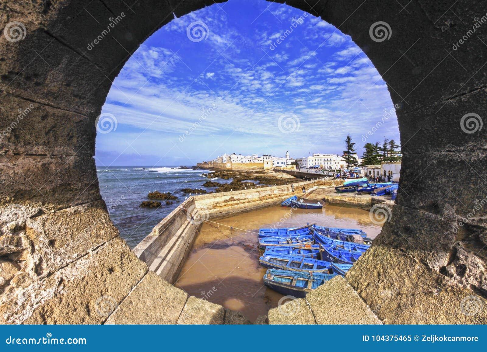 Porto de pesca de Essaouira Marrocos