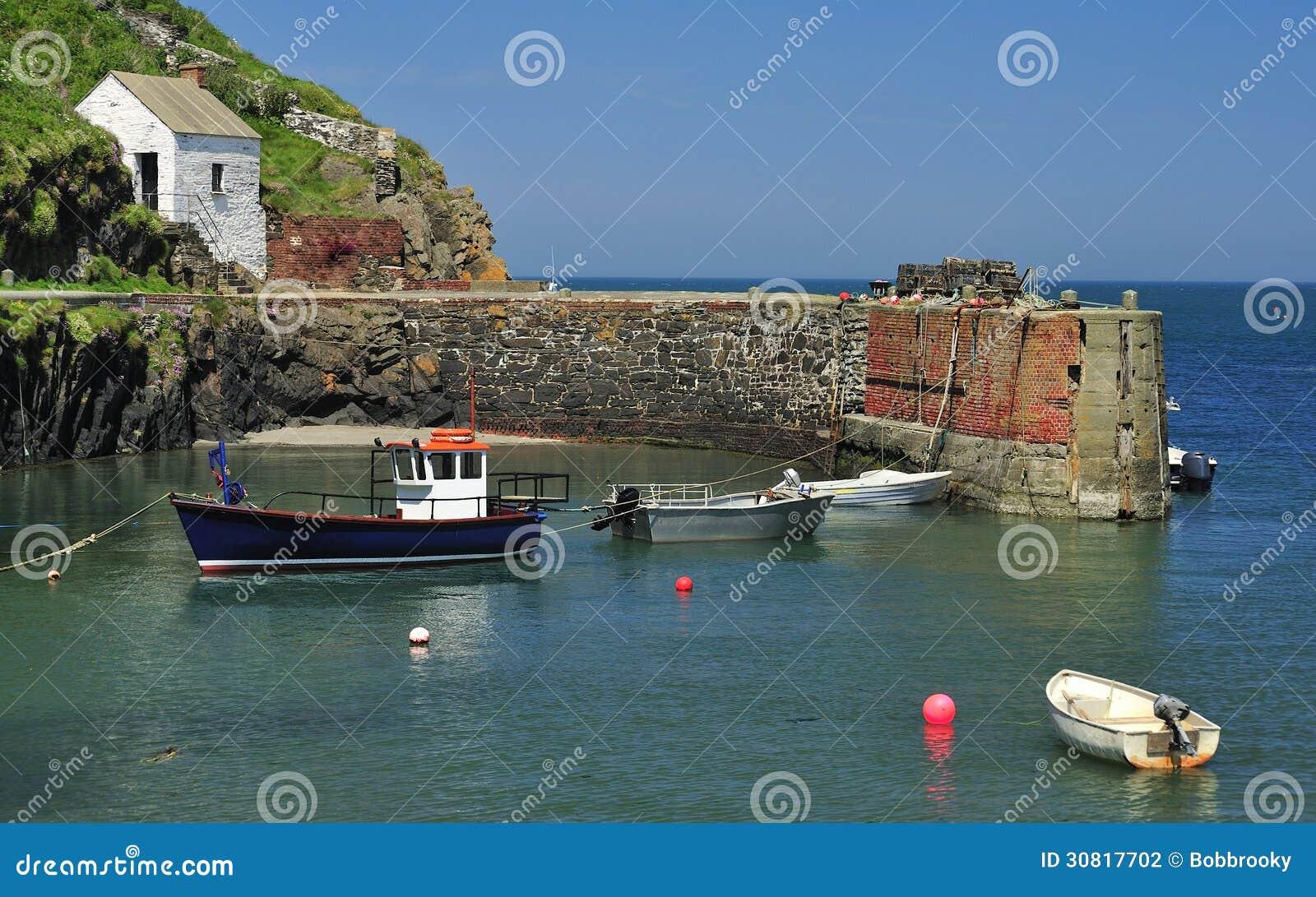 Porto de Porthgain, Pembrokeshire, Gales
