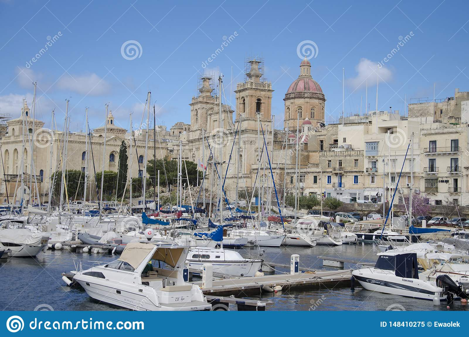 Porto de Vittoriosa em Malta