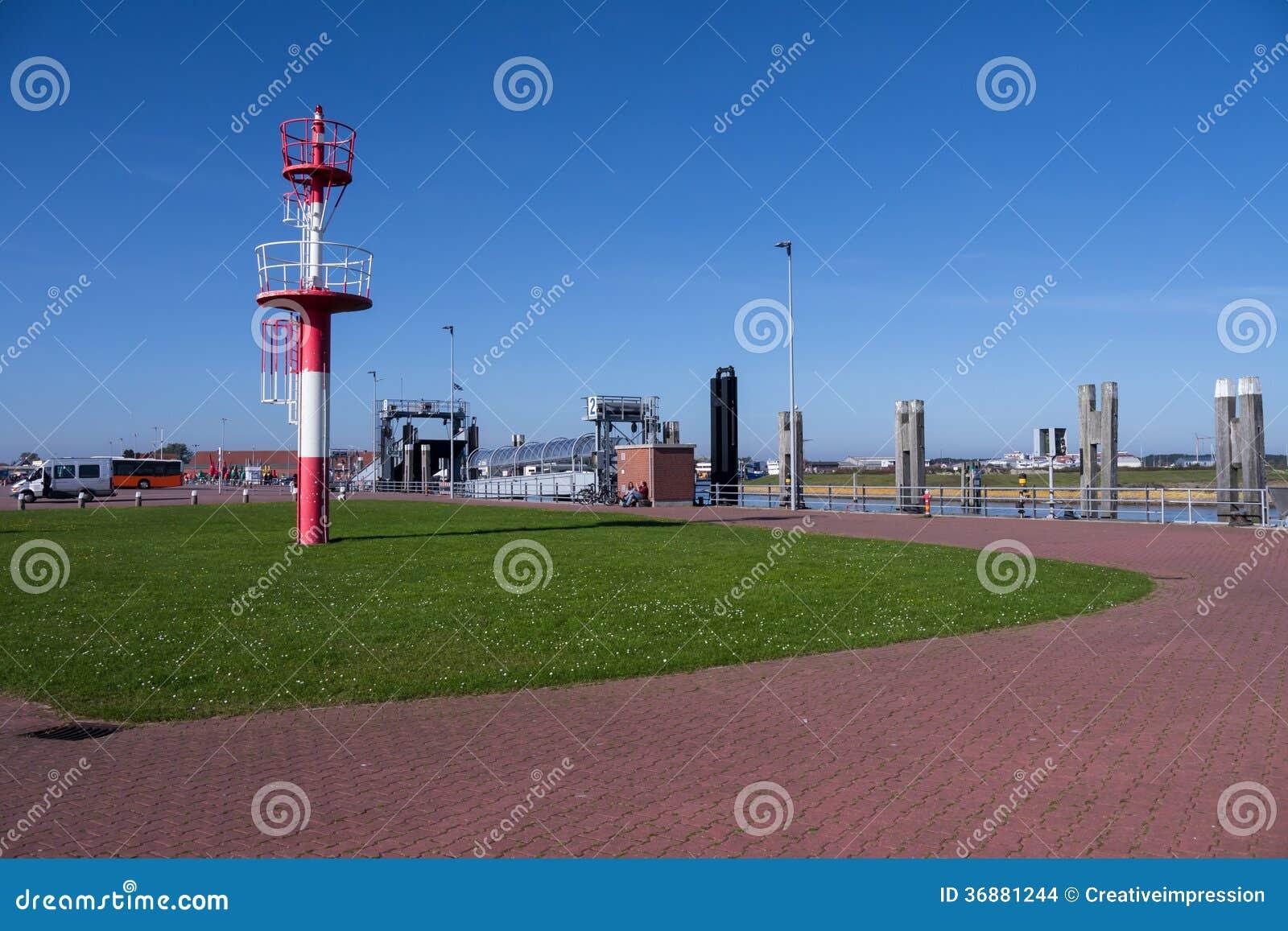 Download Porto del norderney fotografia stock. Immagine di frisian - 36881244