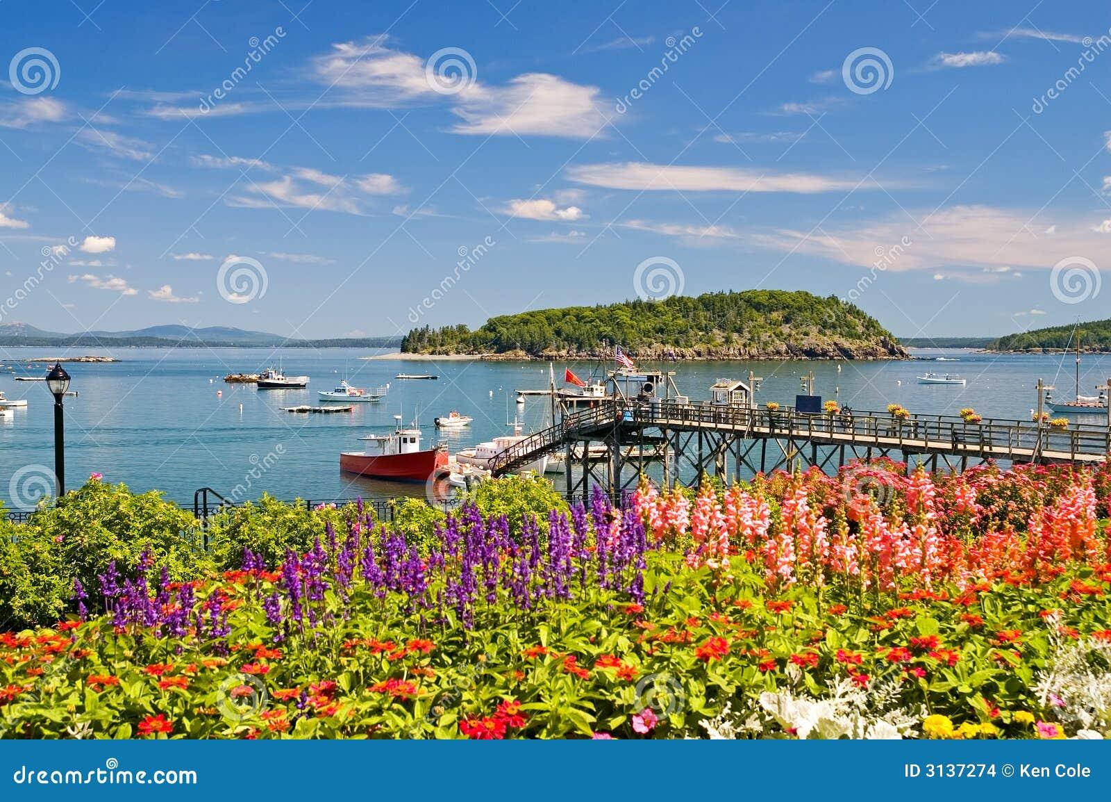 Porto e molo litoranei della Maine