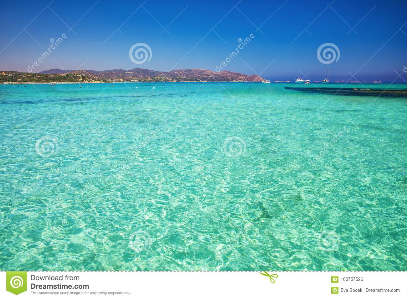 Porto Giunco Beach Villasimius Sardinia Italy Stock Photo