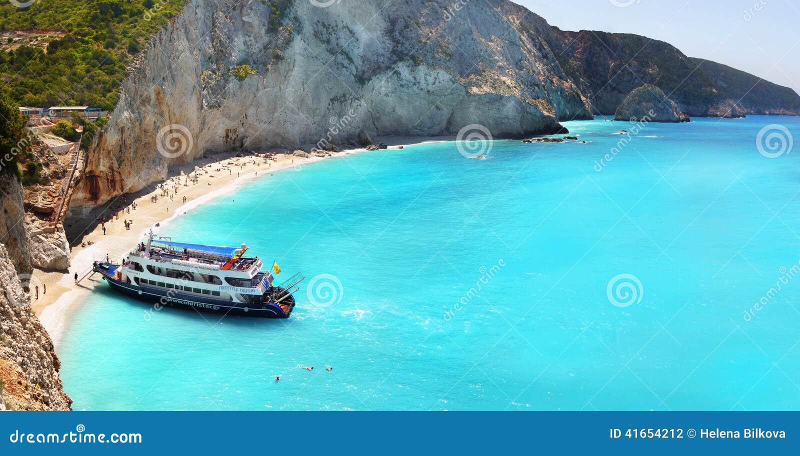 Porto Katsiki beach panorama, Lefkada, Greece