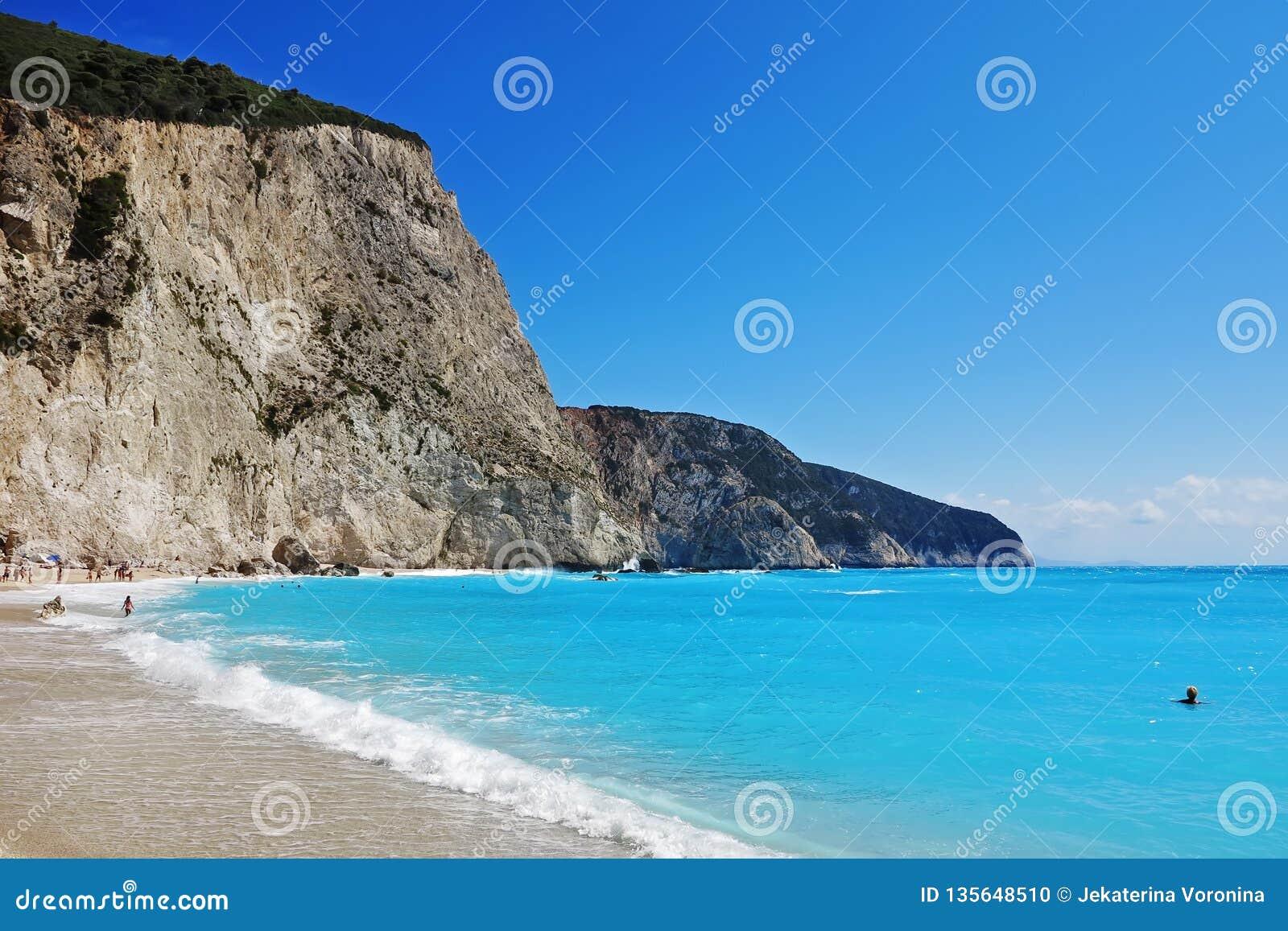 Porto Katsiki plaża, Lefcada, Grecja