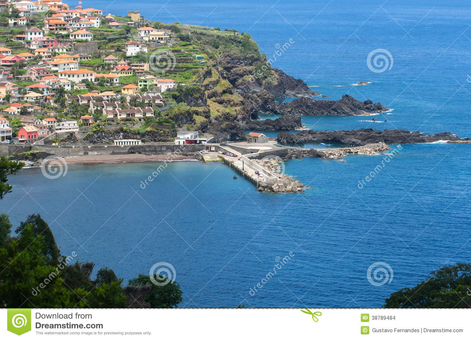 Porto Moniz, het eiland van Madera