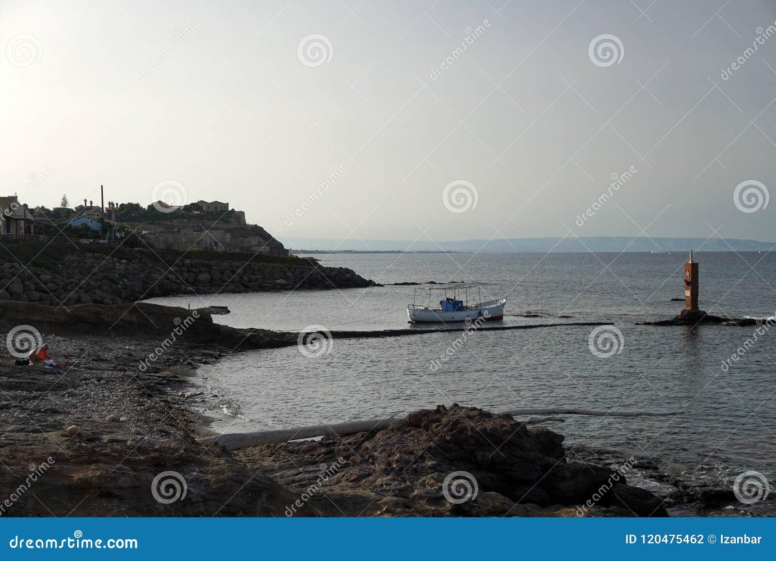 Porto Palo Sicily migranter som landar zon