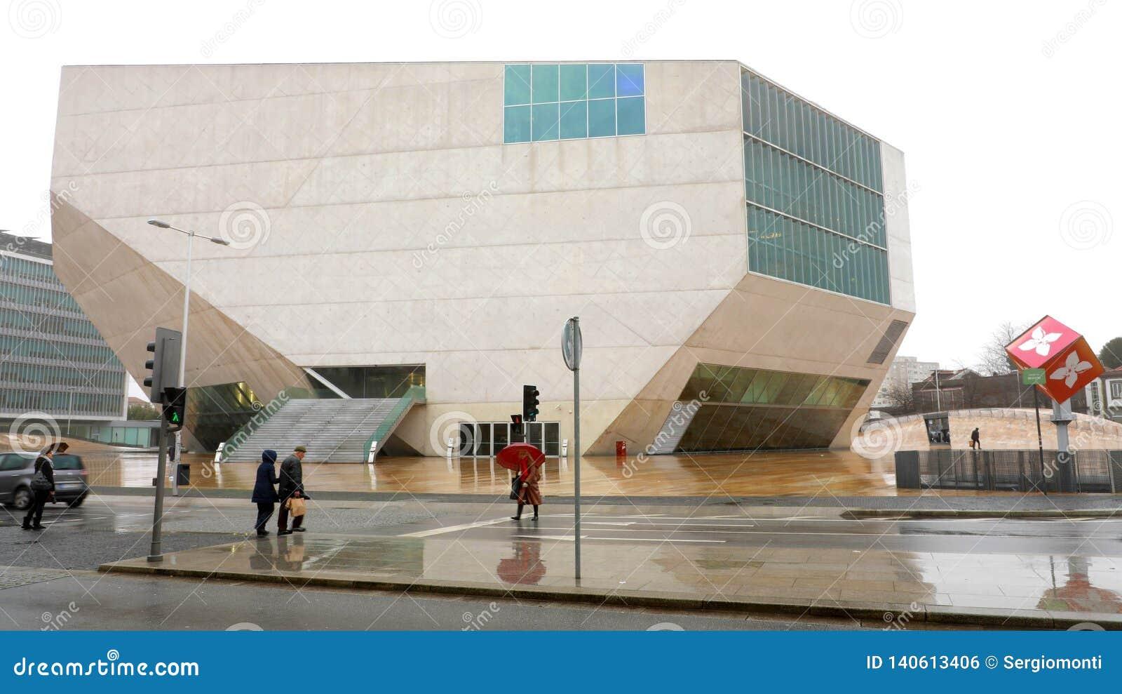 Porto Portugal 31 Janvier 2019 La Maison Da Musica De Chambre