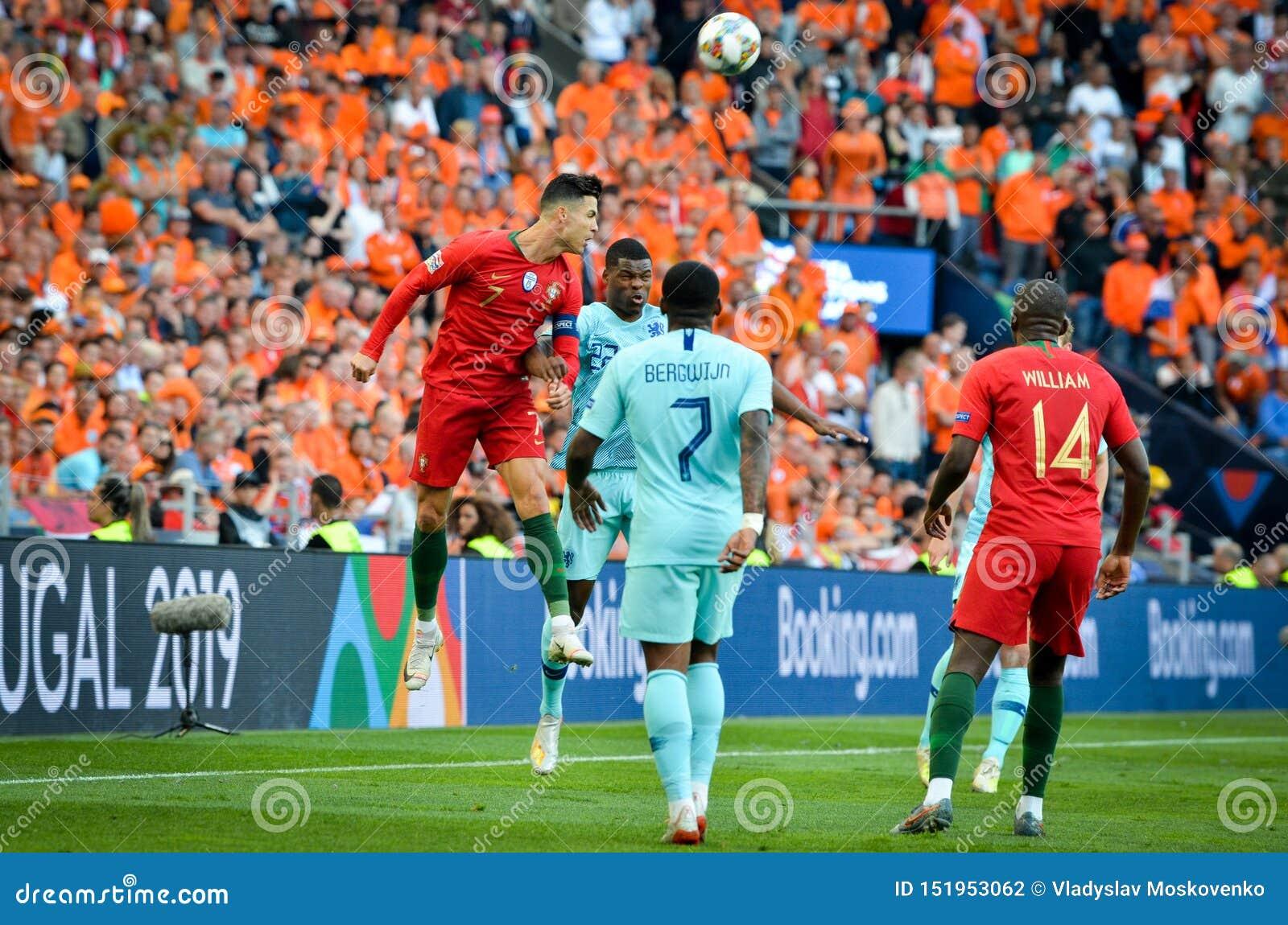 PORTO, PORTUGLAL - June 09, 2019: Cristiano Ronaldo Player ...