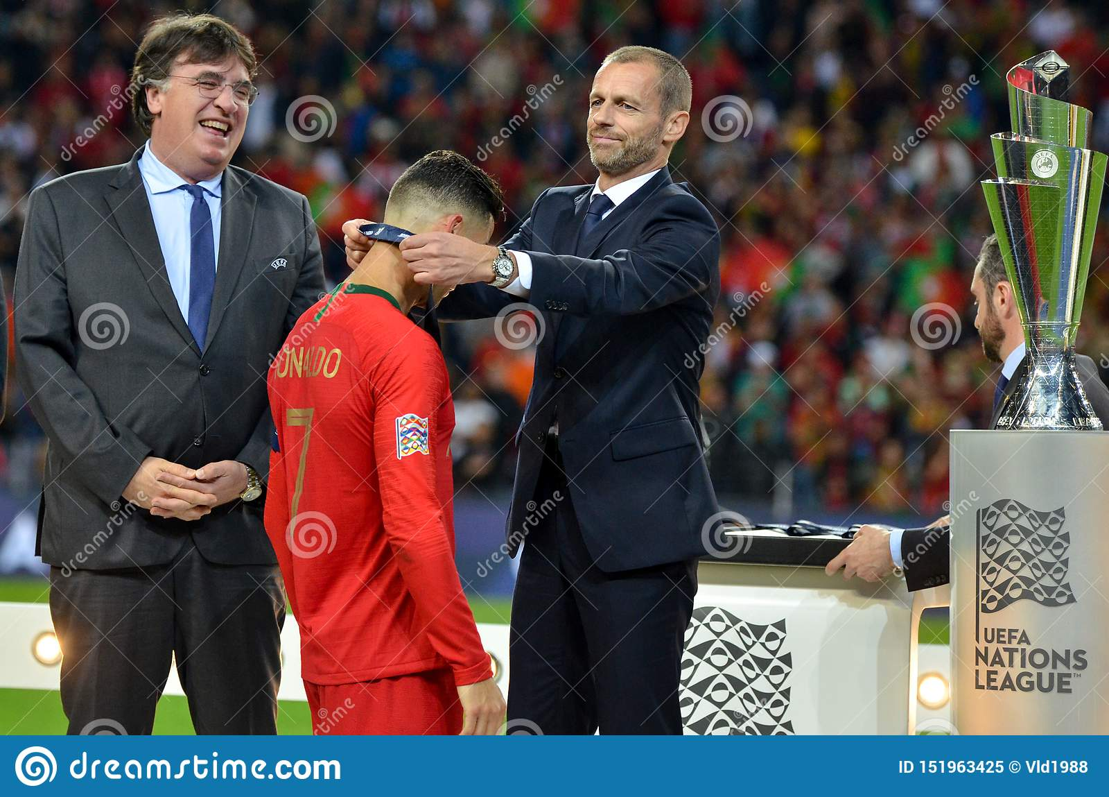 Porto Portuglal June 09 2019 Cristiano Ronaldo Receive Gold Medals During The Uefa Nations League Finals Match Between Editorial Image Image Of Football Alexander 151963425