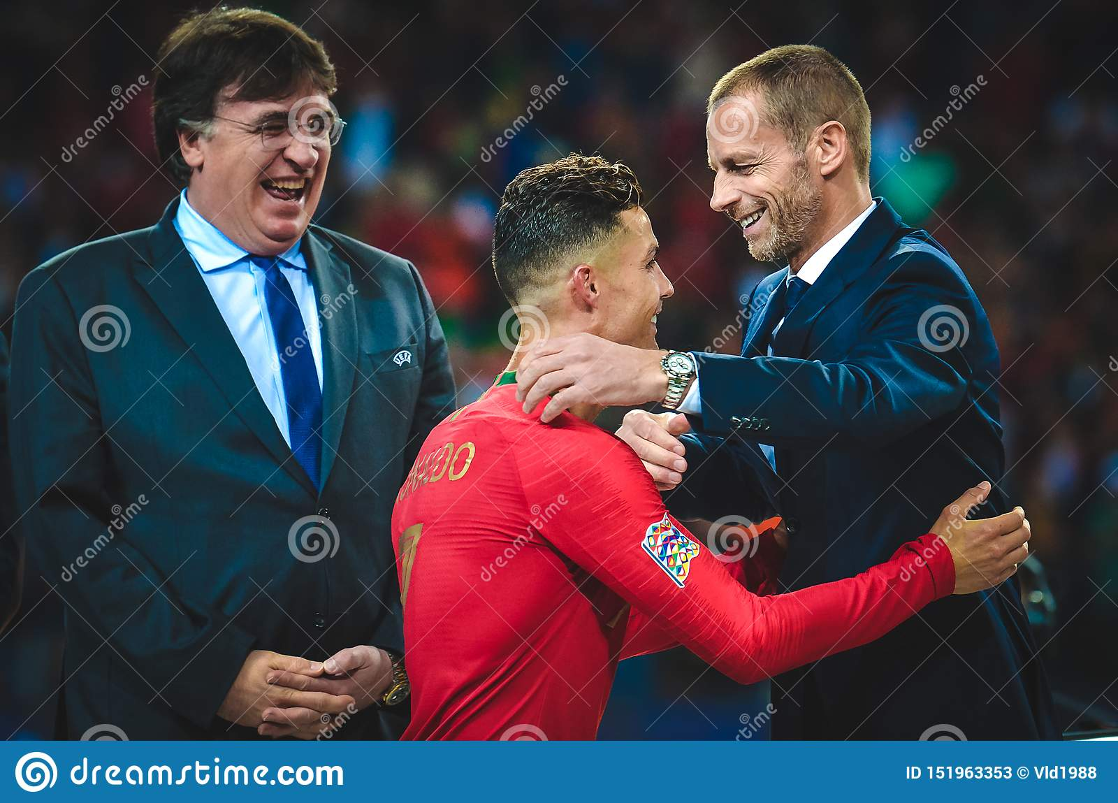 Porto Portuglal June 09 2019 Cristiano Ronaldo Receive Gold Medals During The Uefa Nations League Finals Match Between Editorial Stock Photo Image Of Ball Play 151963353