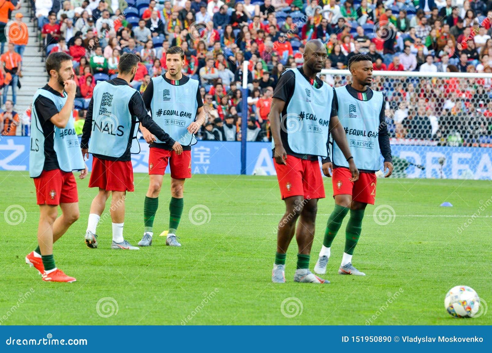 PORTO, PORTUGLAL - June 09, 2019: Football Trains During ...