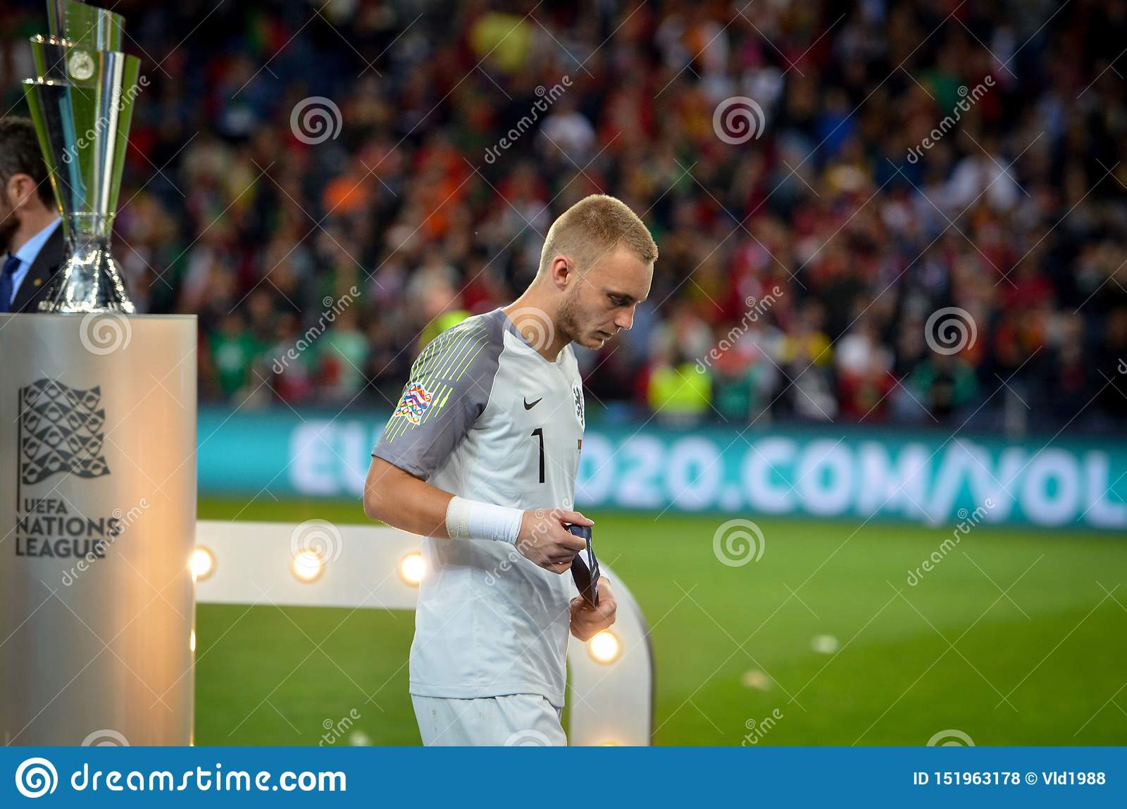 Porto Portuglal June 09 2019 Jasper Cillessen Receive Silver Medals During The Uefa Nations League Finals Match Between Editorial Stock Photo Image Of Ball Team 151963178