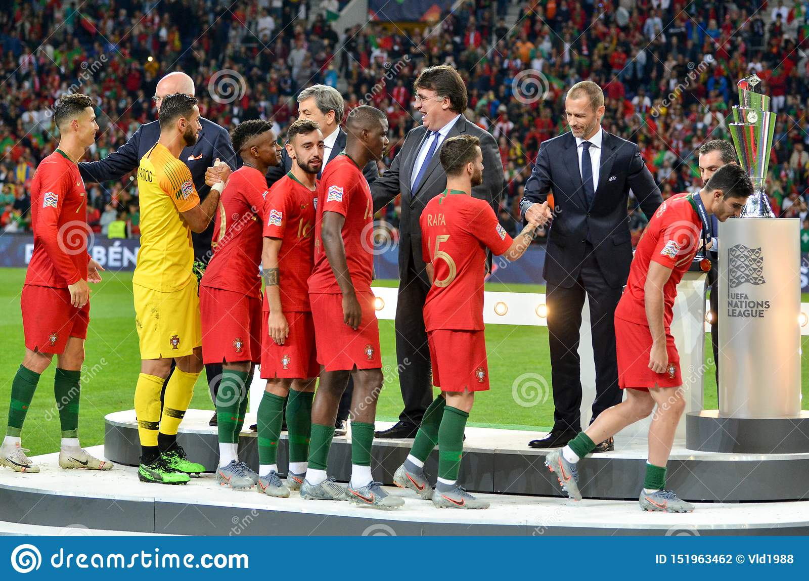 Porto Portuglal June 09 2019 Portugal National Team Receive Gold Medals During The Uefa Nations League Finals Match Between Editorial Photography Image Of William Field 151963462