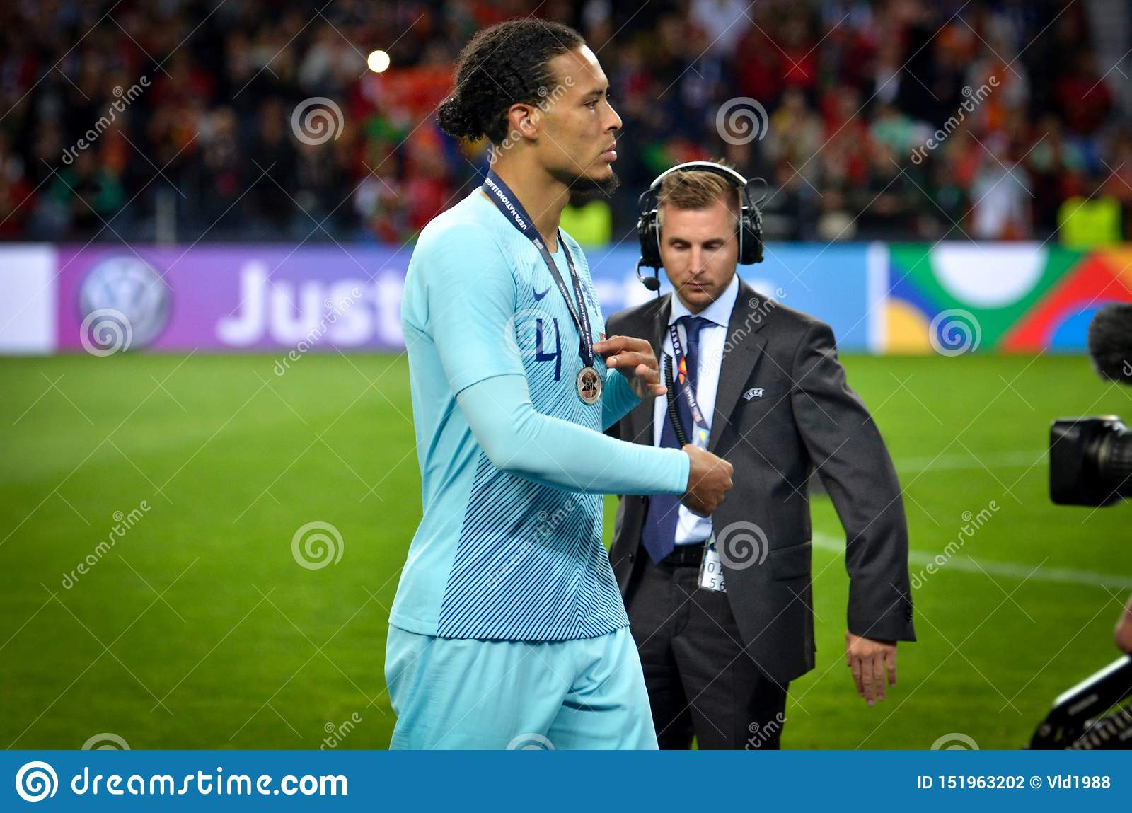 Porto Portuglal June 09 2019 Virgil Van Dijk Receive Silver Medals During The Uefa Nations League Finals Match Between Editorial Photography Image Of Game Fans 151963202