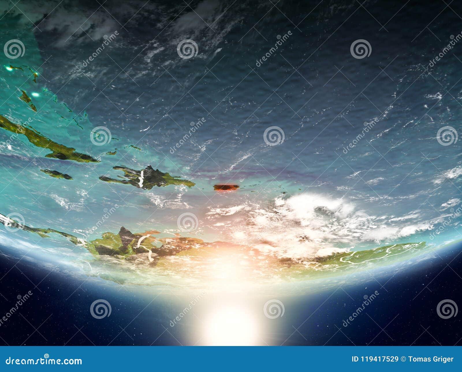 Porto Rico com o sol na terra do planeta
