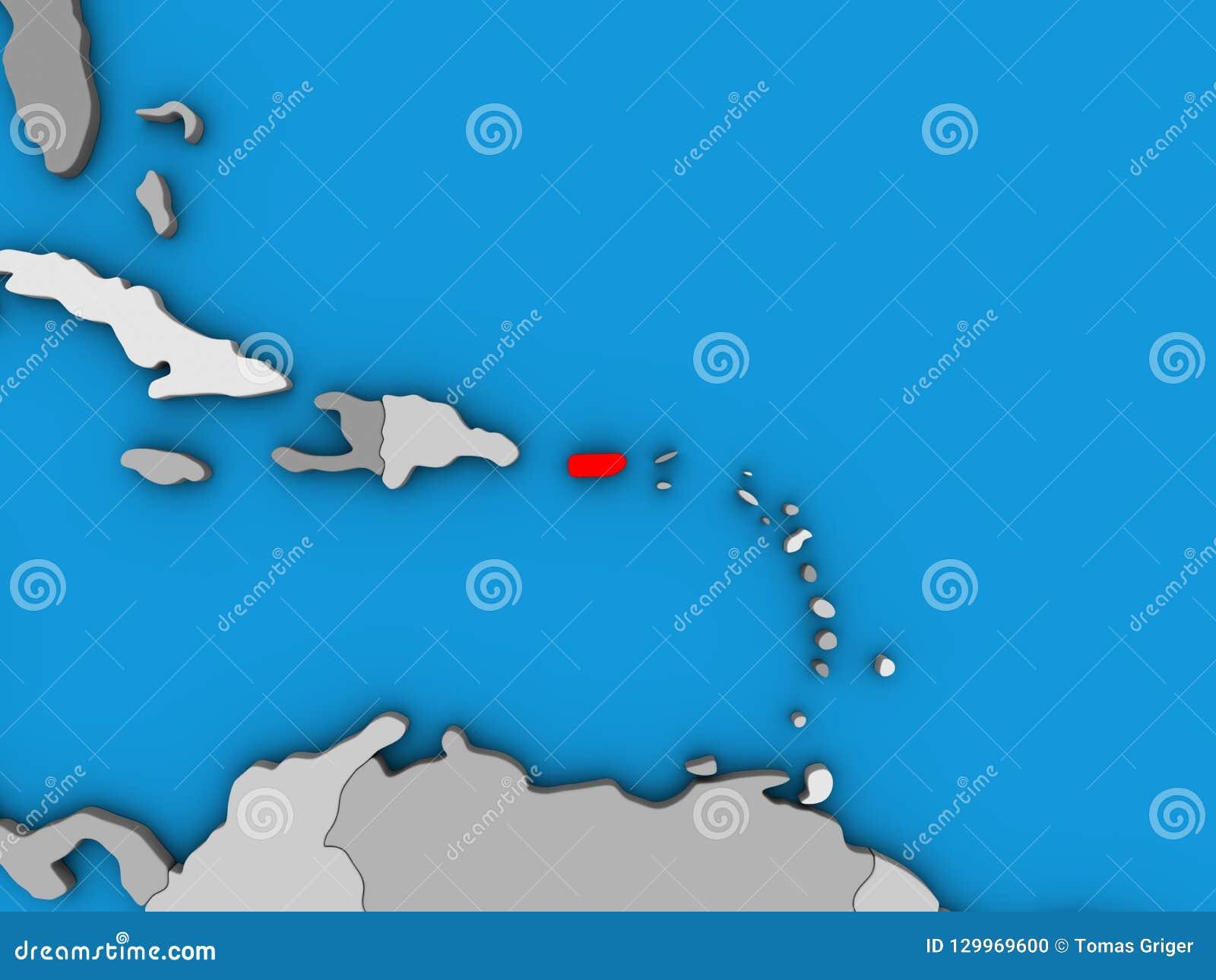 Porto Rico no mapa 3D