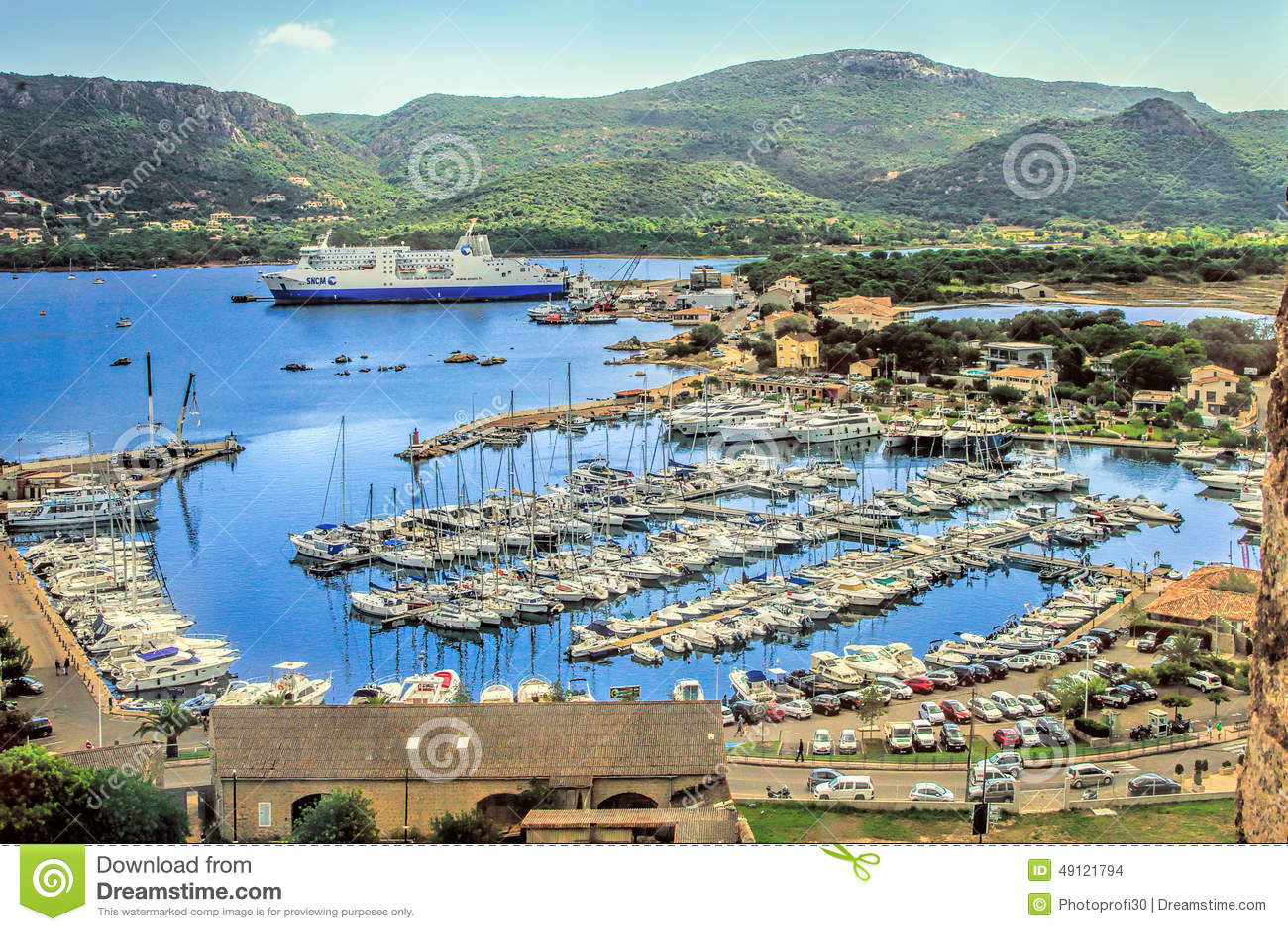 porto vecchio corsica france editorial stock image image of citadel beach 49121794. Black Bedroom Furniture Sets. Home Design Ideas