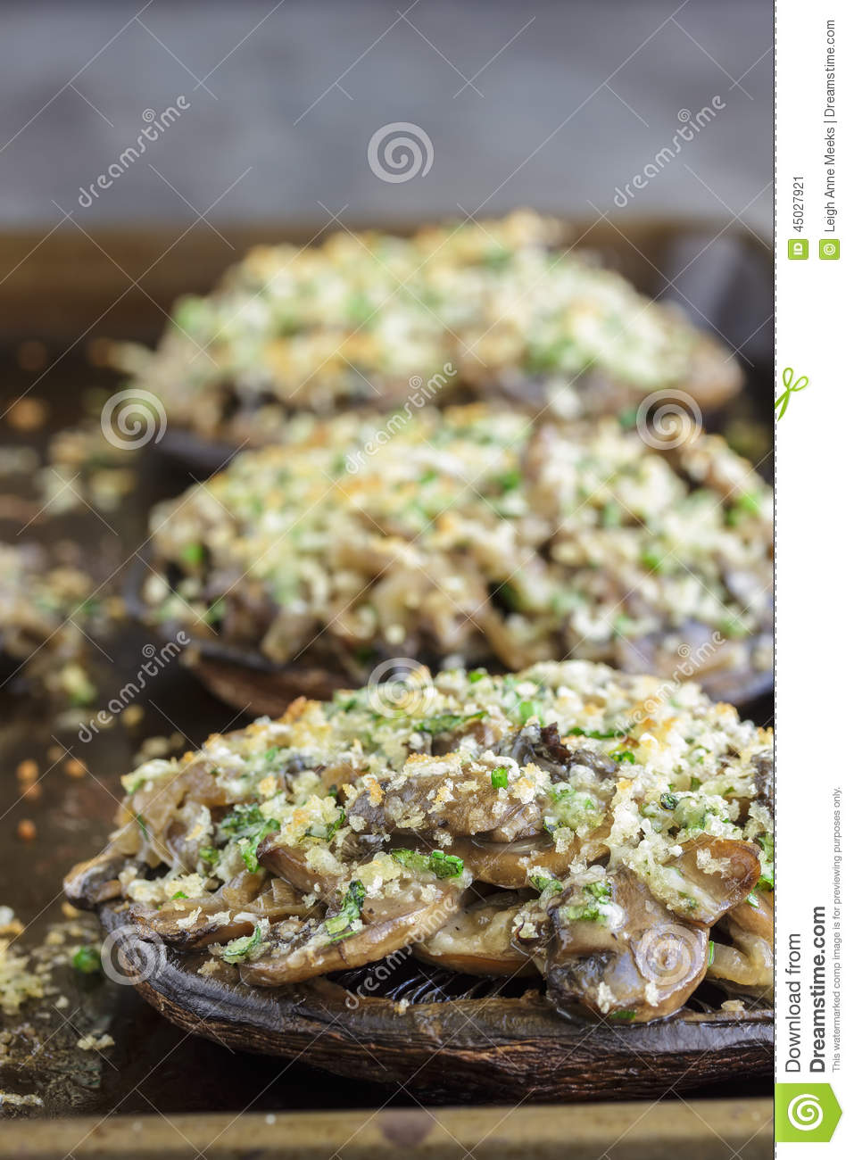 Portobello Gratin Stock Photo - Image: 45027921