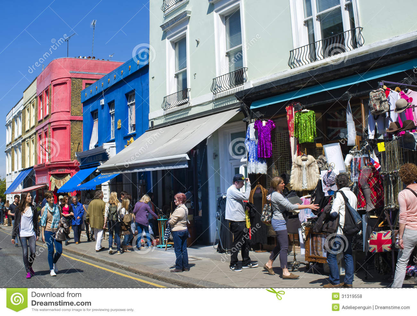 Portobello Road, Notting Hill, London, England Editorial Stock Photo ...