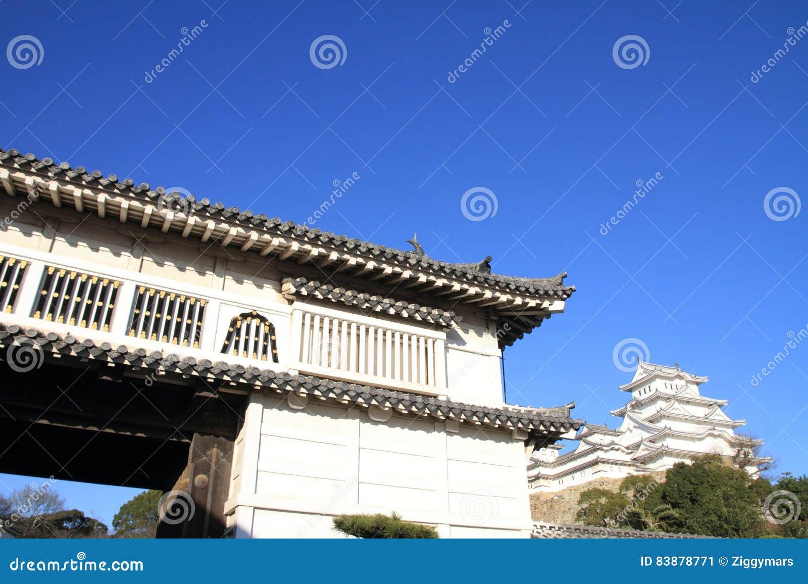 Portone del castello del castello di Himeji a Himeji