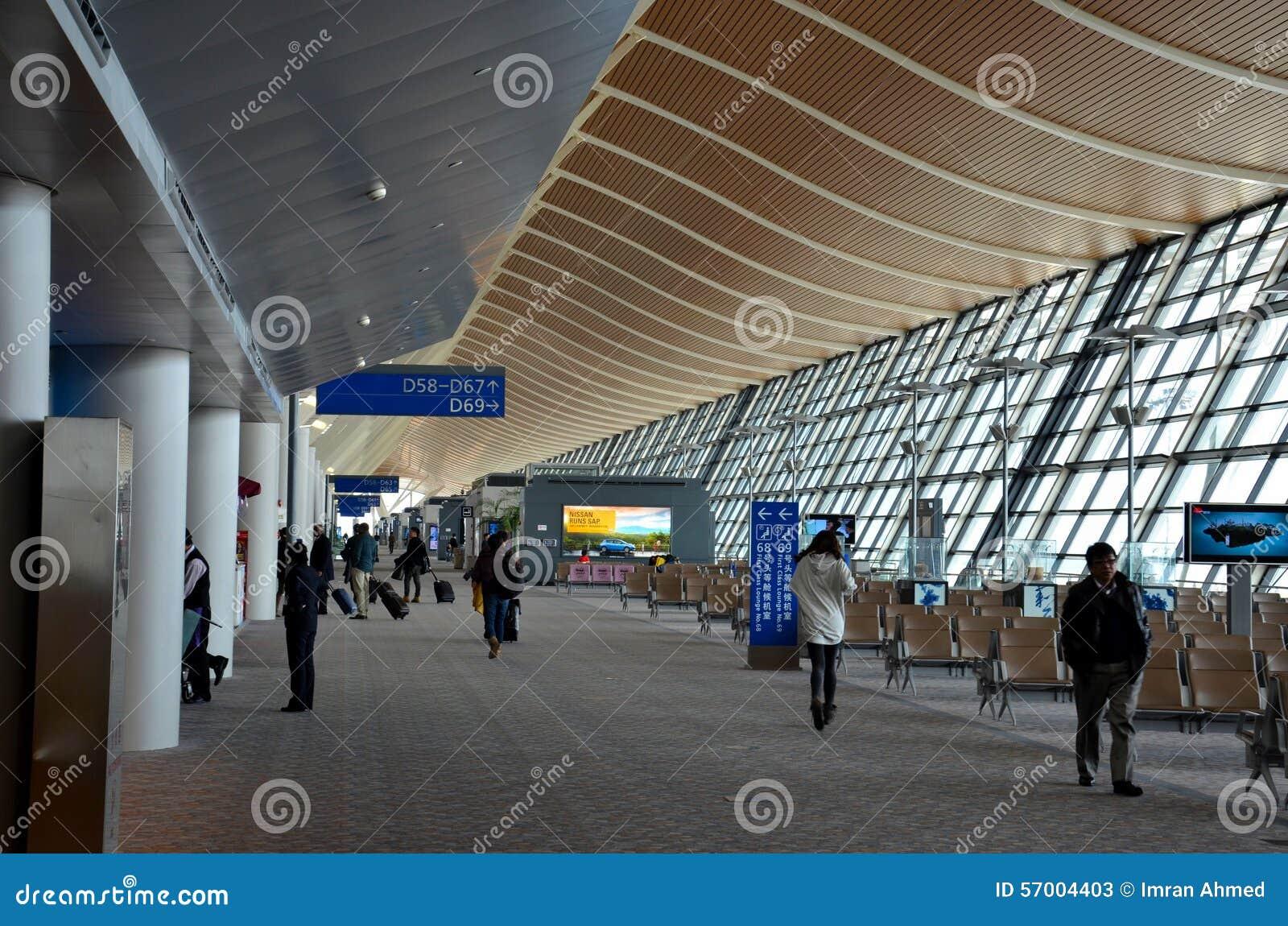 Aeroporto Xangai : Portoni e concorso di partenza all aeroporto