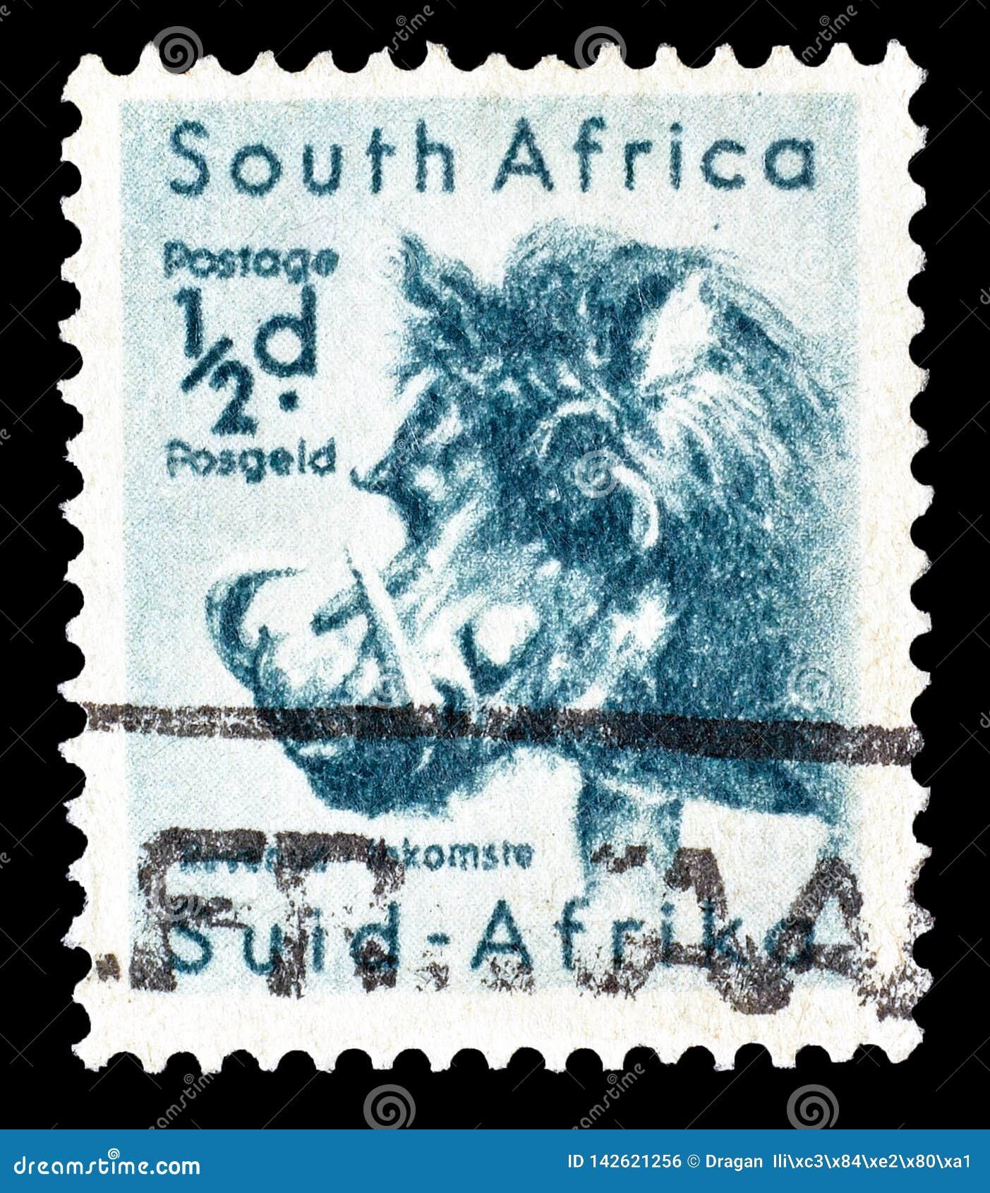Portostämpel som skrivs ut av Sydafrika