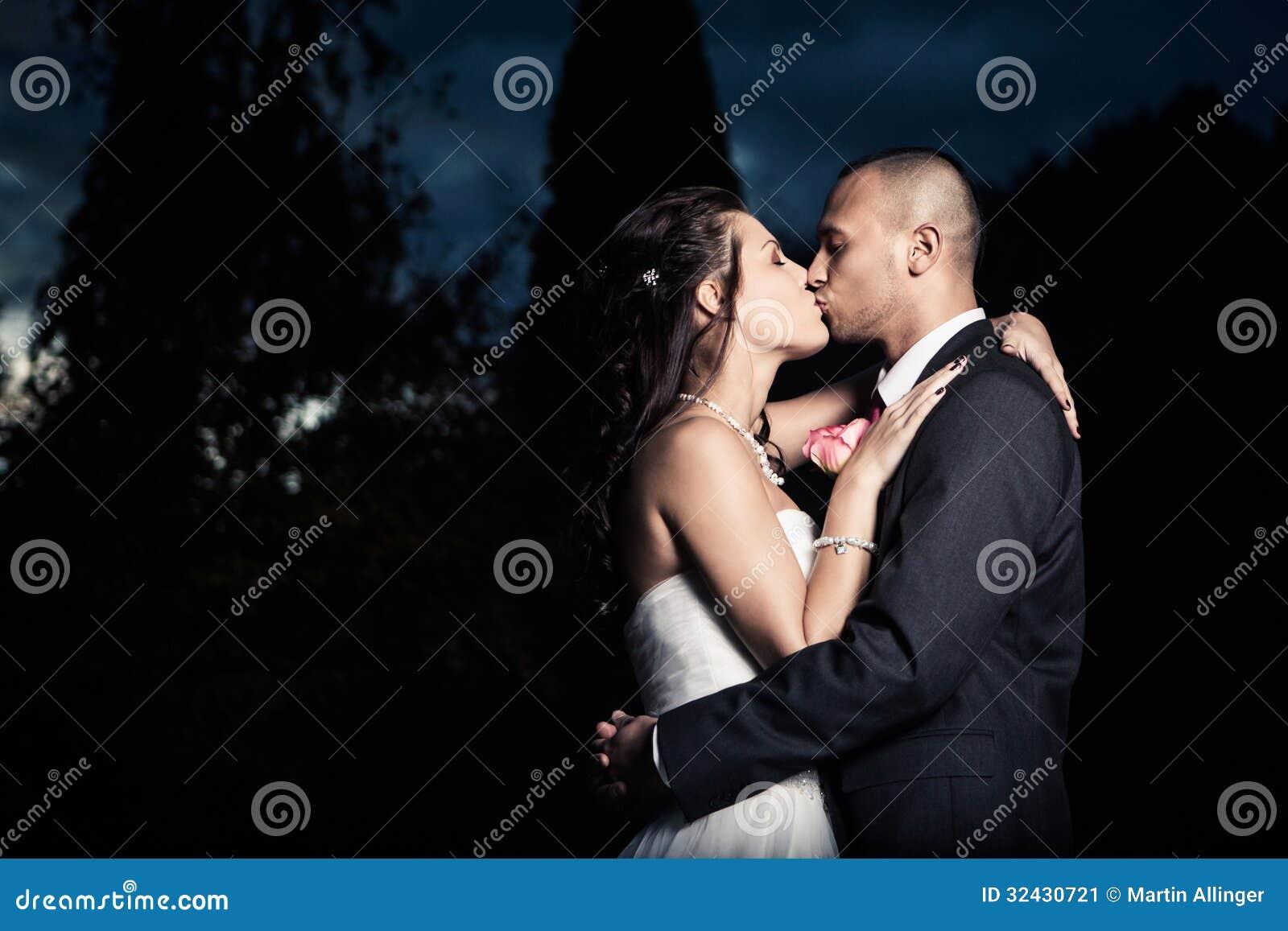 Porträt des jungen verheirateten Paars