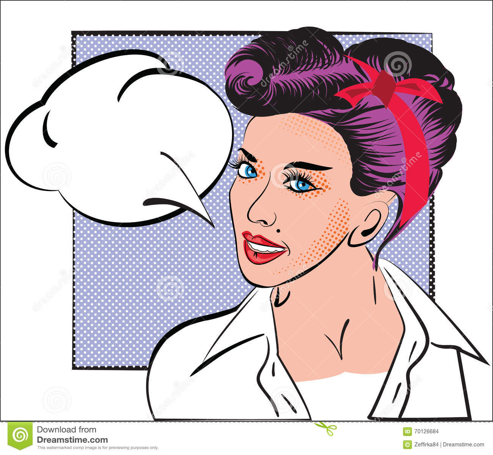 Portrat Des Madchens In Der Artpop Art Comic Bucher Skizze Frau