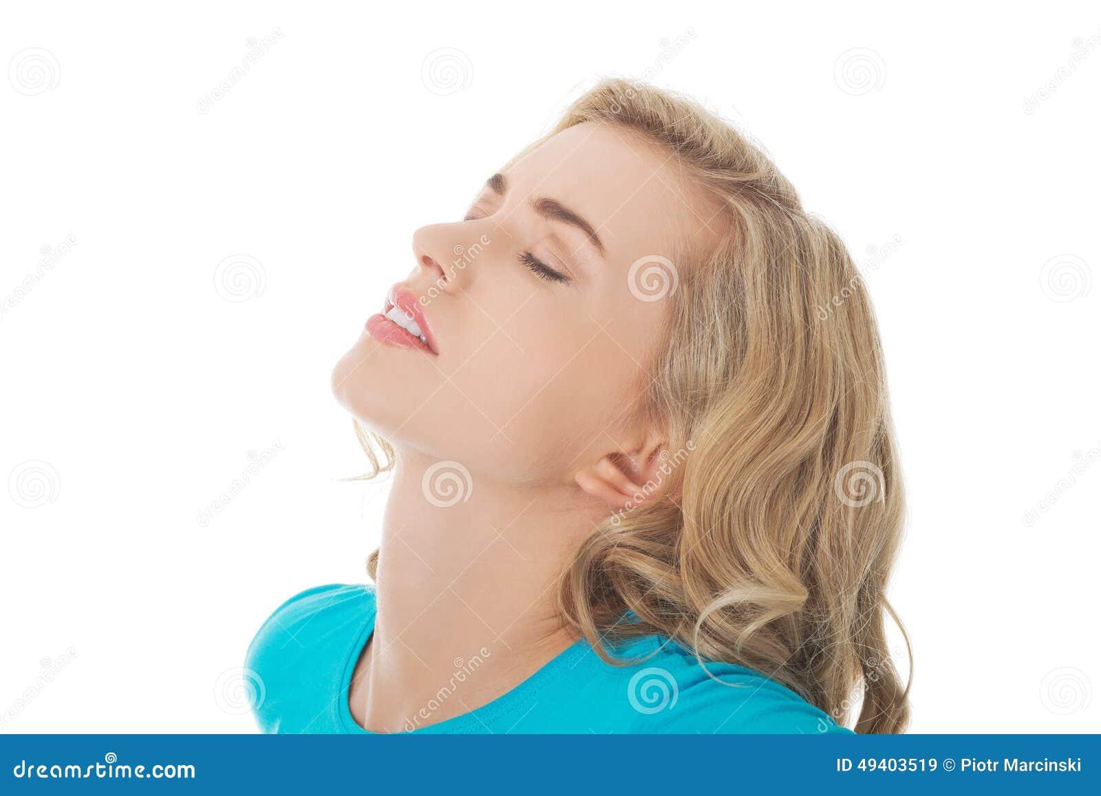 Download Porträt Einer Frau Mit Rückenschmerzen Stockbild - Bild von lebensstil, backache: 49403519