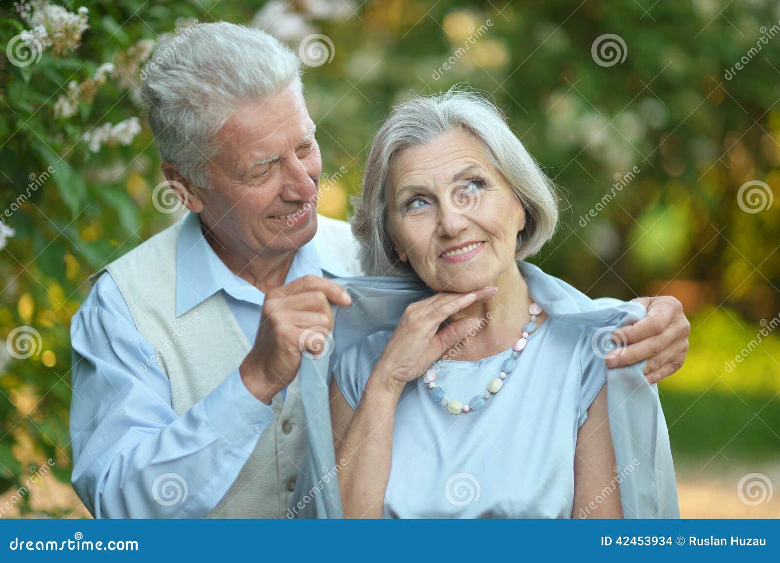 Porträt eines glücklichen älteren Paares