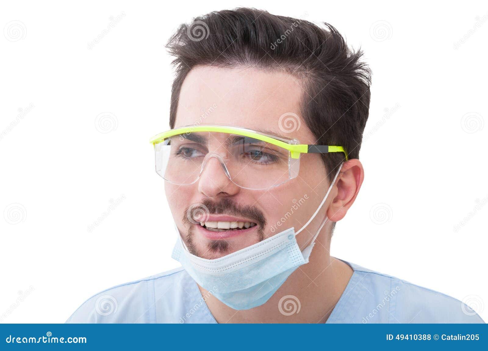 Download Porträt Eines Männlichen Doktorlächelns Stockfoto - Bild von hintergrund, krankenschwester: 49410388